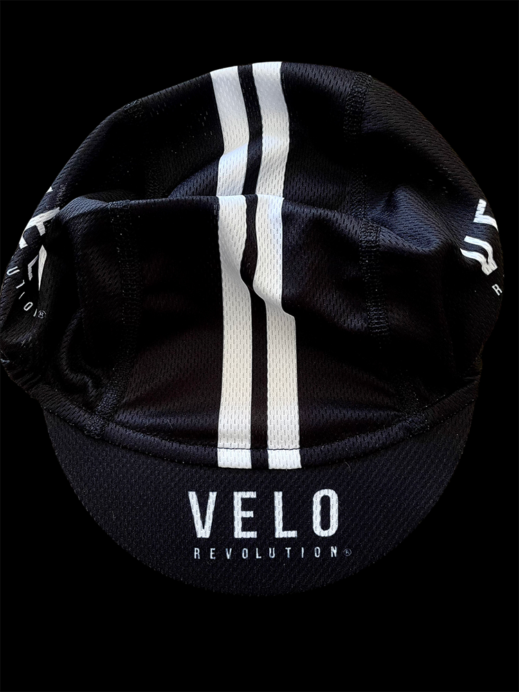 Cycling Cap PRO Featherweight BLACK w/Stripes