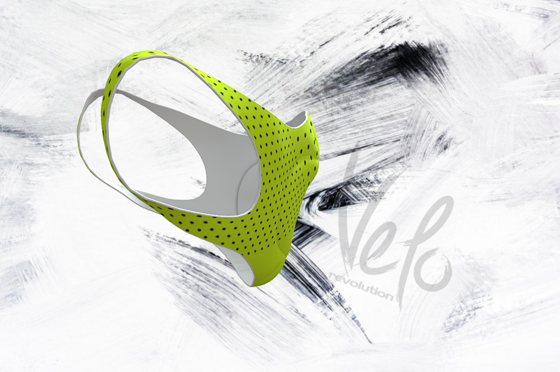 VeloRevolution Face Mask (with filter) BRIGHT YELLOW
