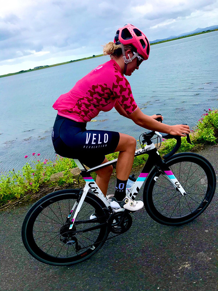 Short Sleeve Jersey Female Pro NEON PINK & DAZZLE