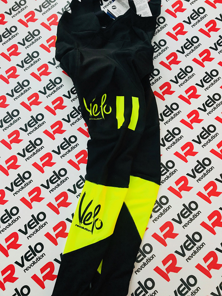 Bib Tights AllDay Roubaix Black with Yellow Panels