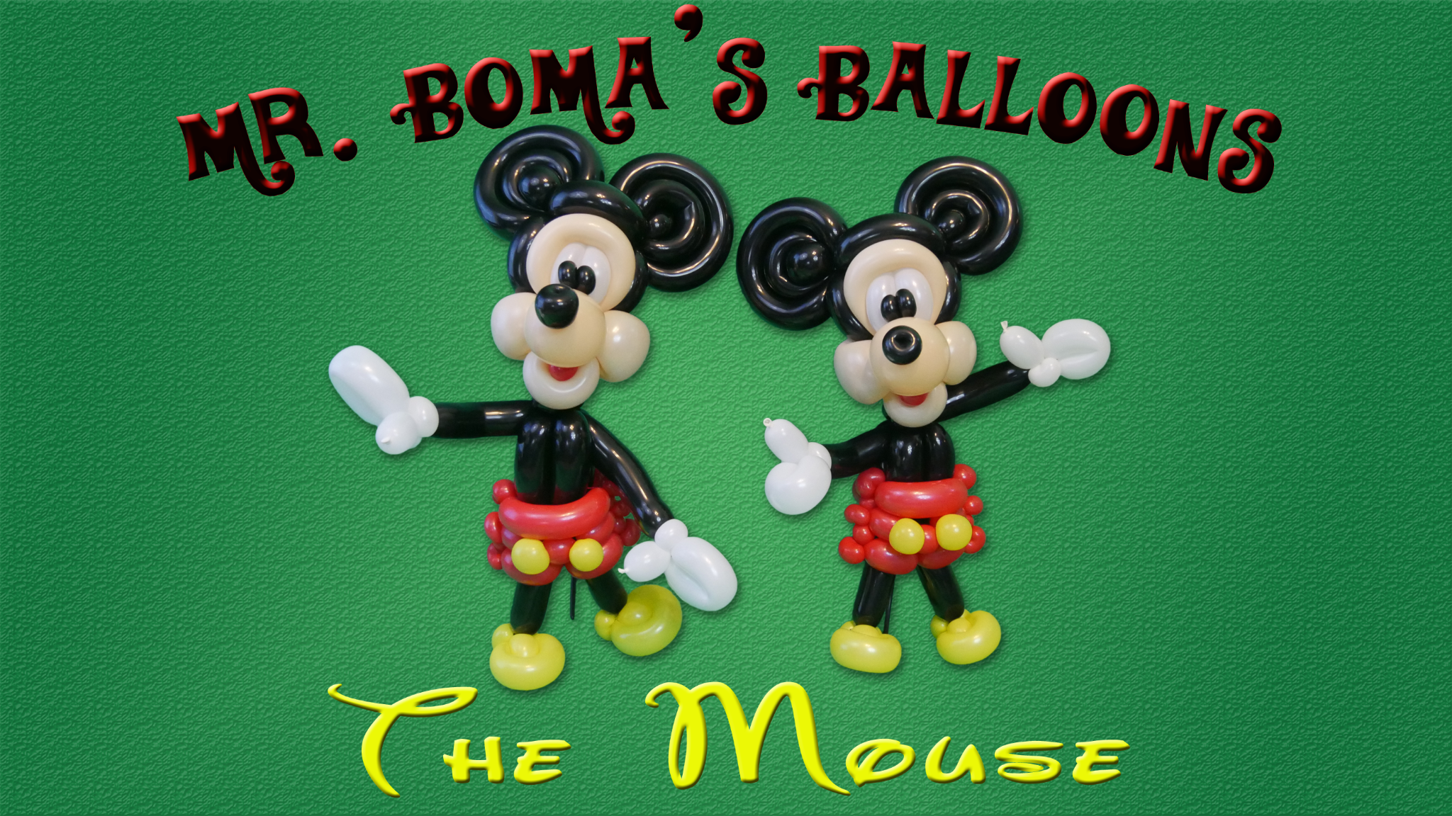 Iconic Mouse Balloon Tutorial