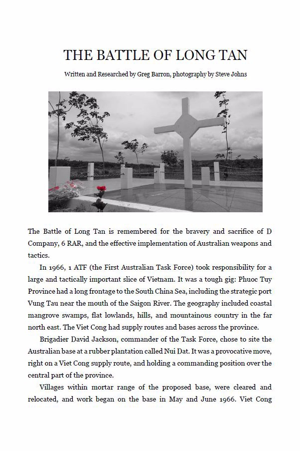 The Battle of Long Tan - Free PDF (5 Pages)