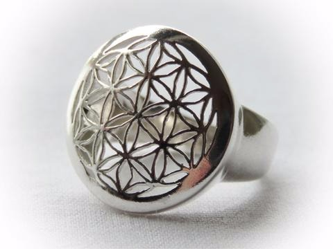 Sterling Silver Sacred Geometry Ring
