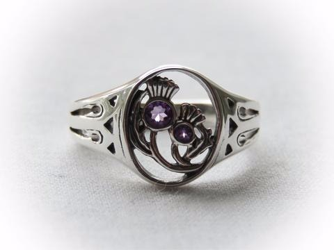 Sterling Silver Scottish Thistle Ring