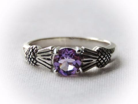 Sterling Silver Thistle Ring