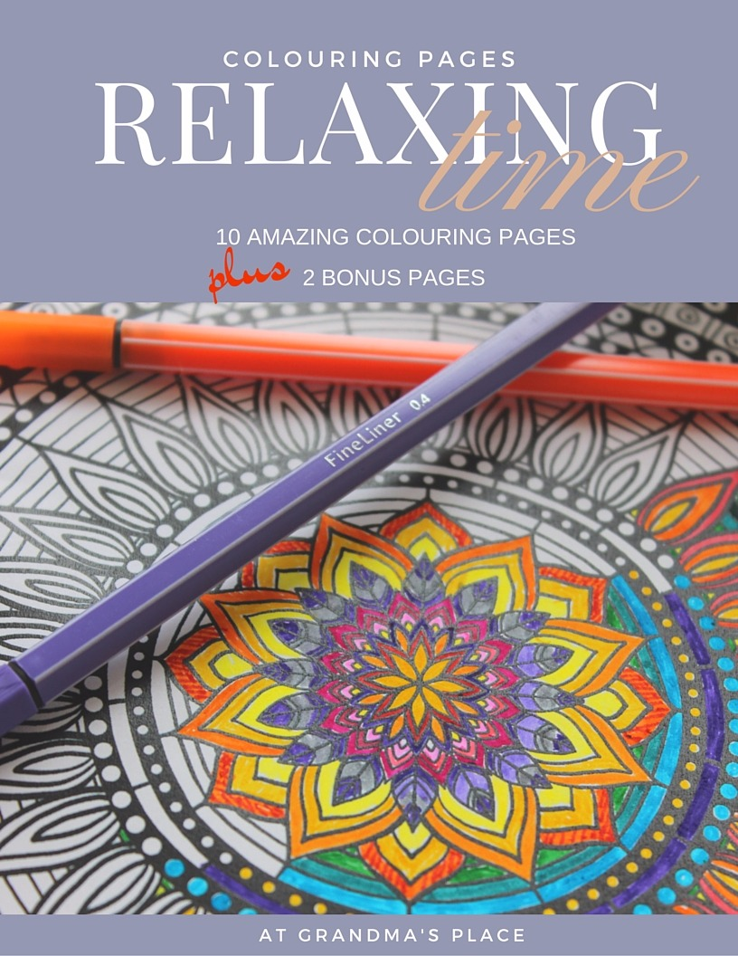 Relaxing Time colouring pages