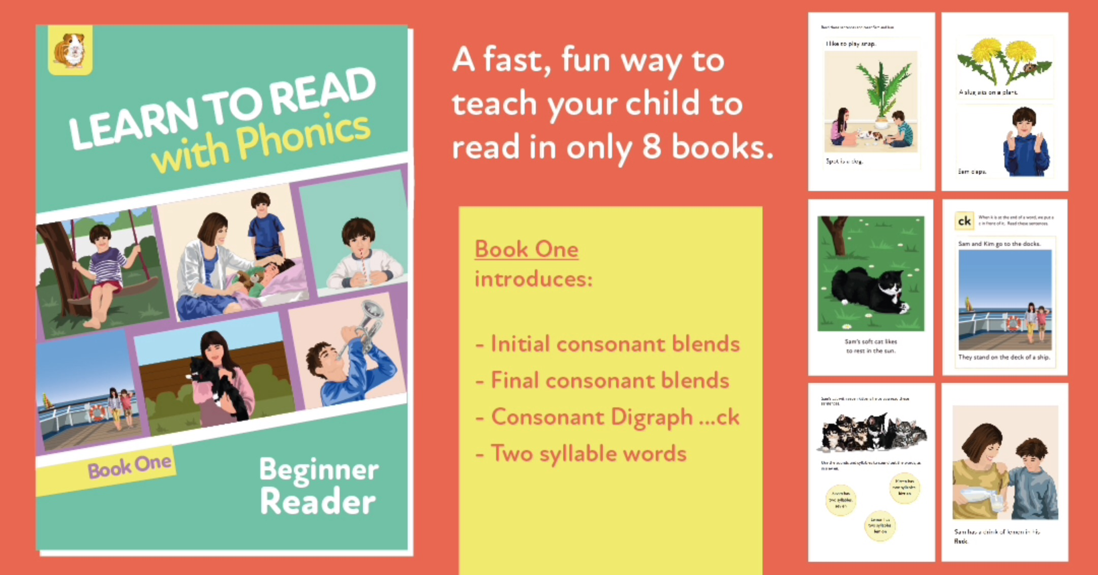 Learn To Read Rapidly With Phonics: Beginner Reader Book 1: Digital Download