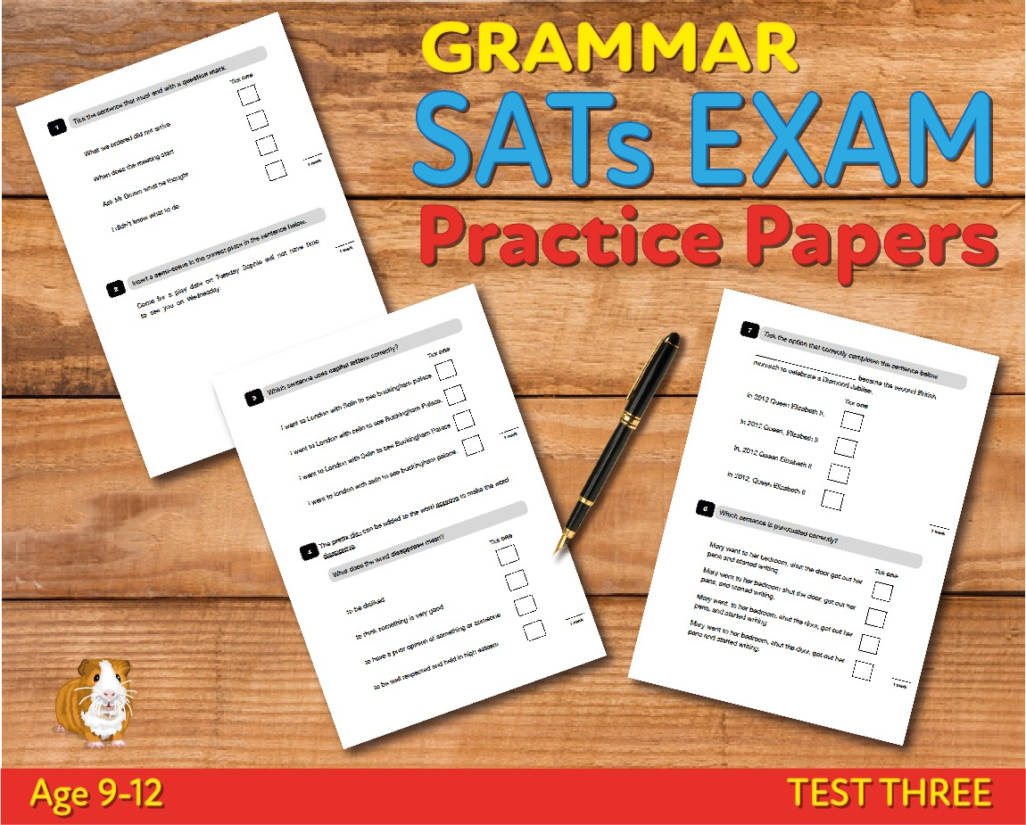KS2 SATs Grammar, Punctuation & Vocabulary Practice Papers - Test 3 (Age 9-12)
