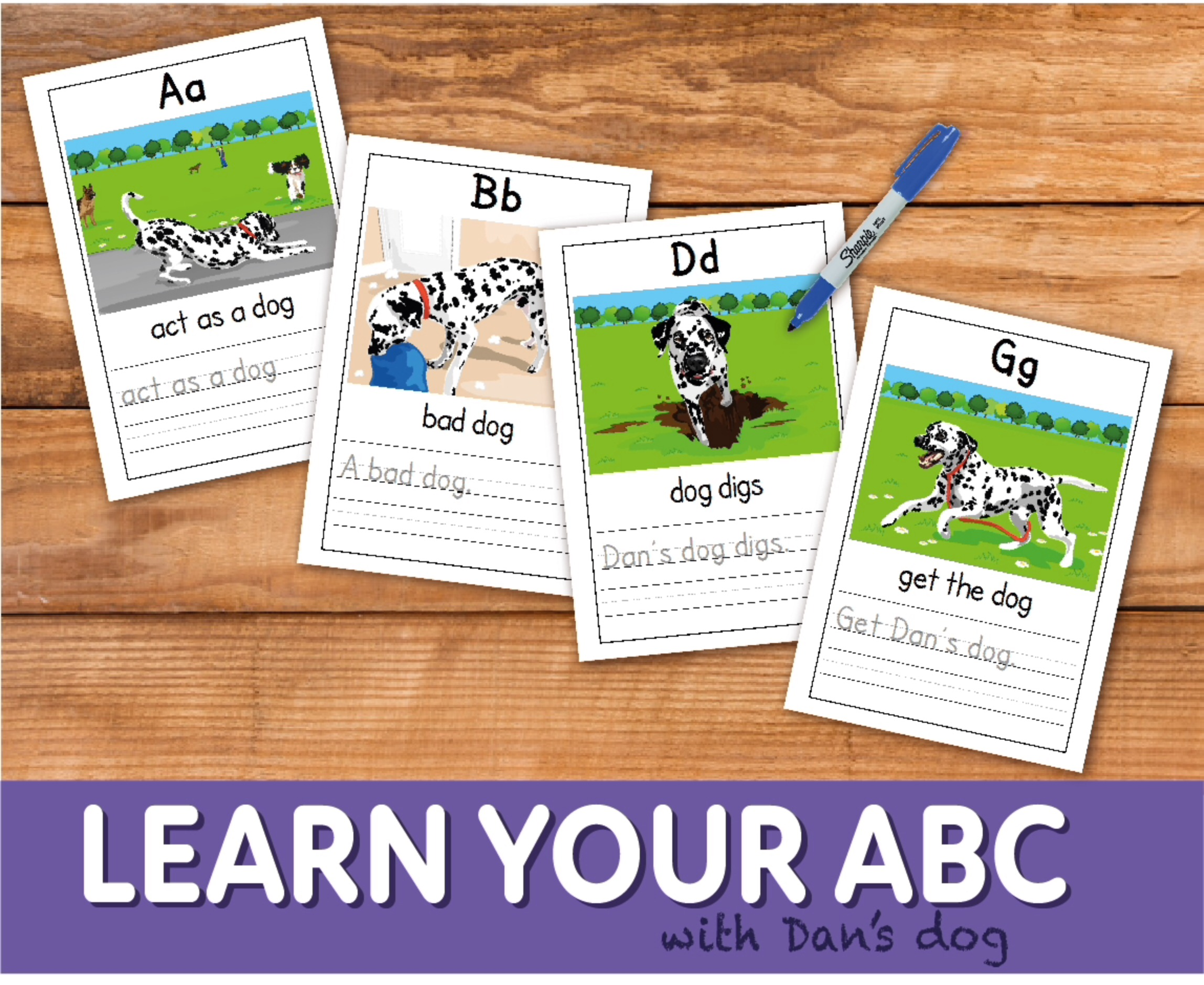 Learn The Alphabet With Dan's Dog (4-7 years)