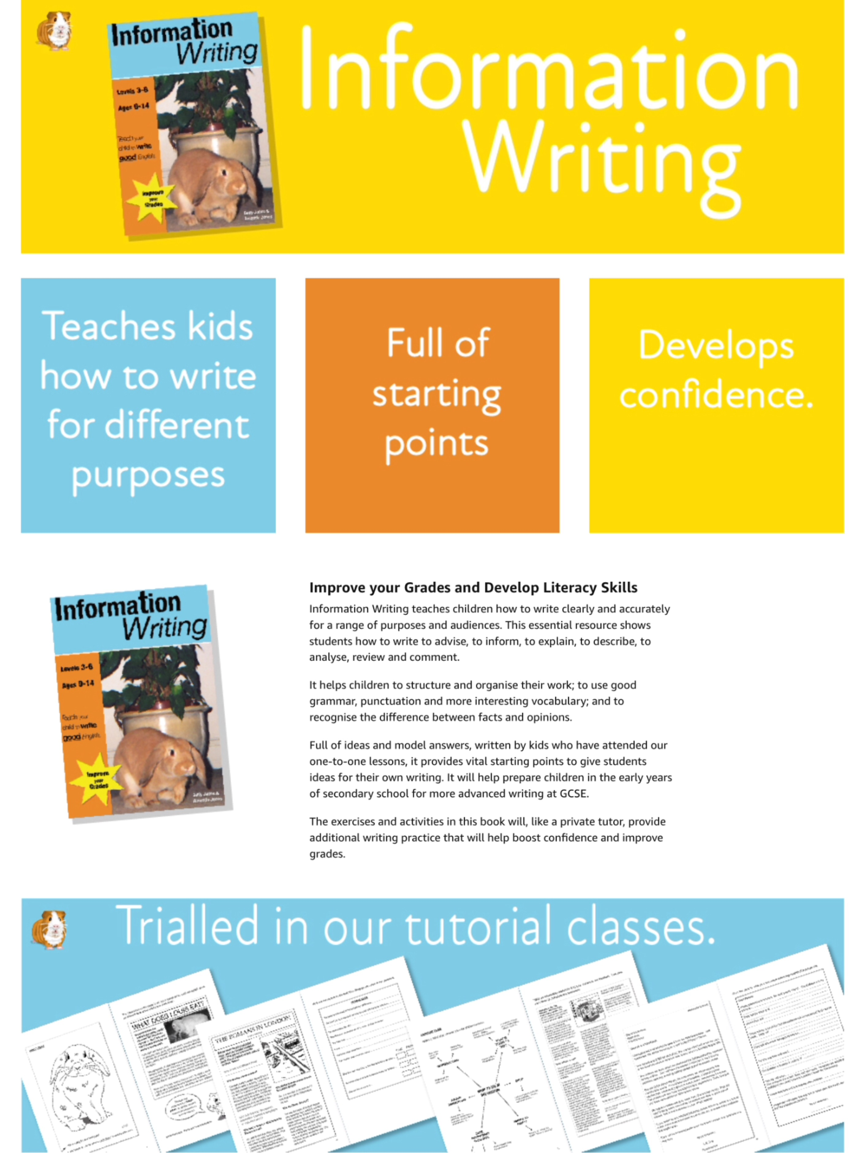 Teach Your Child To Write Good English Series (Complete Series books 1-3) 9-14 years