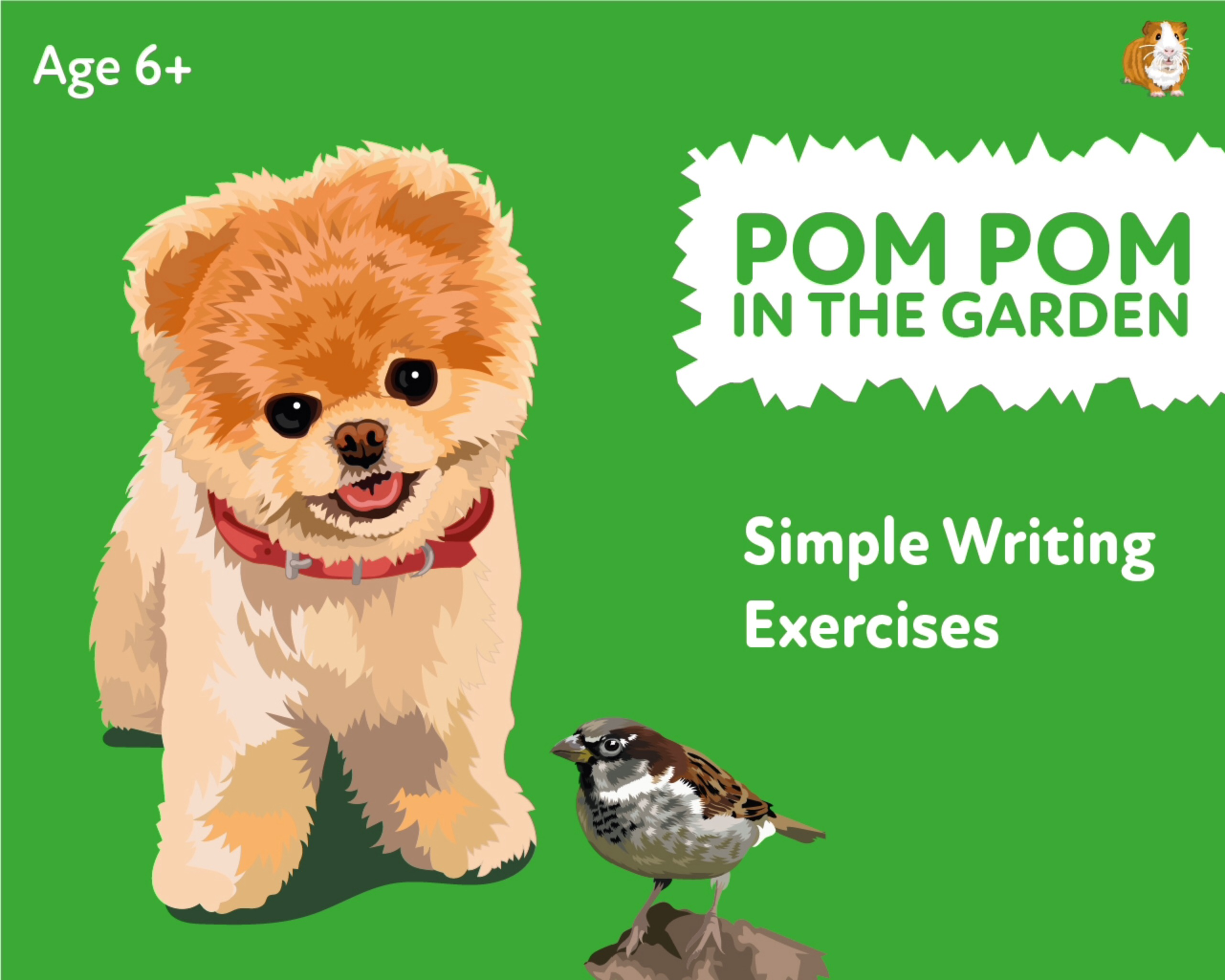 'Pom Pom Stays Alert In The Garden' A Fun Writing And Drawing Activity (6 years +)
