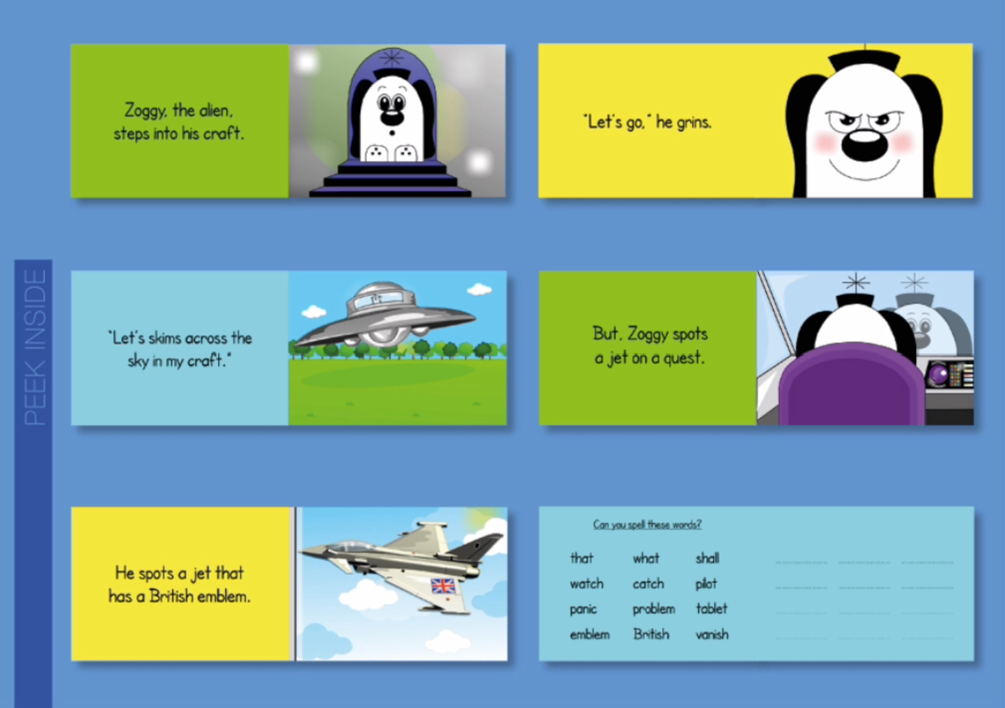 Initial Consonant Blends & Consonant Digraphs (Zoggy Can Fly In His Craft)