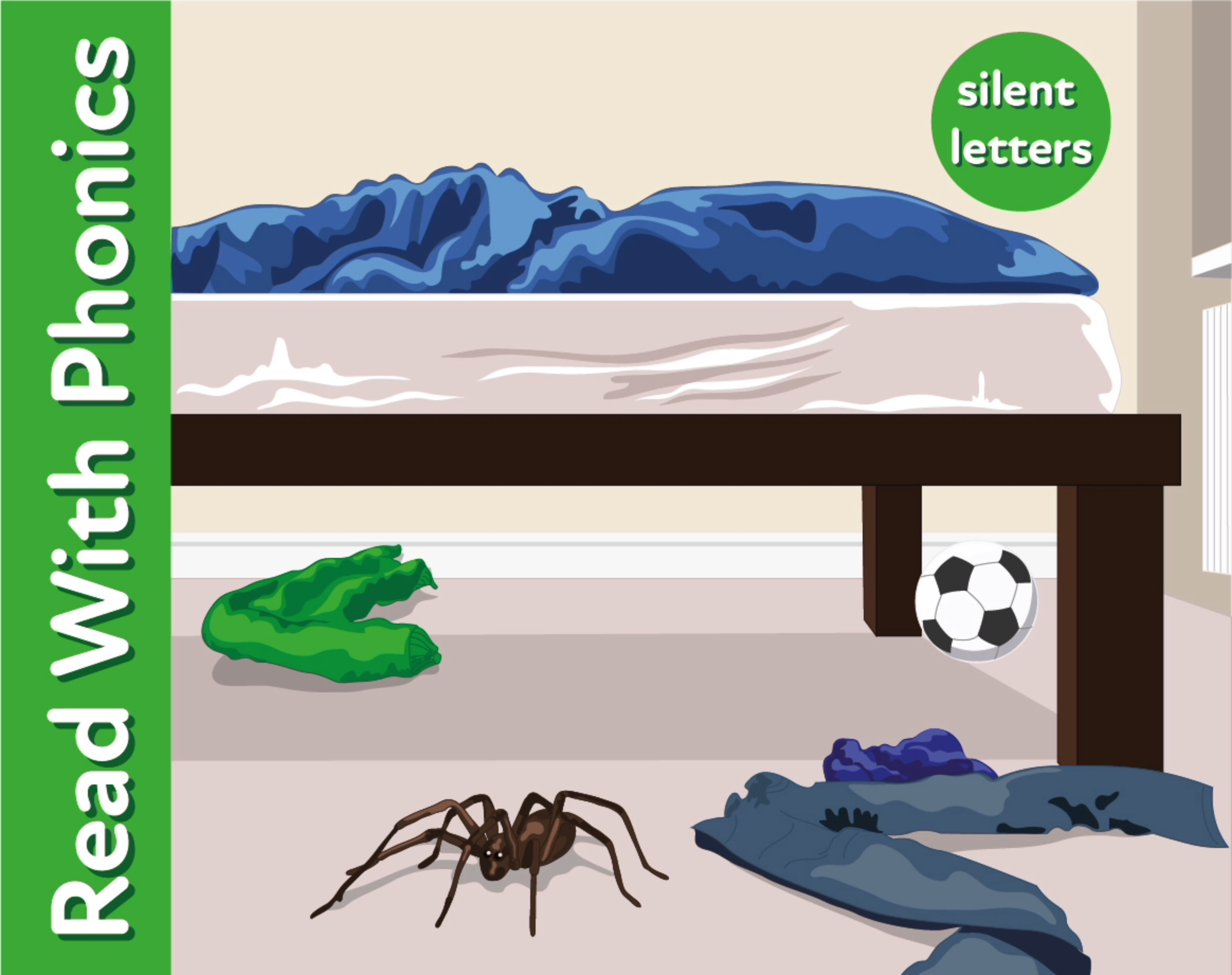 The Monster Near The Bed: Learn Silent Letters