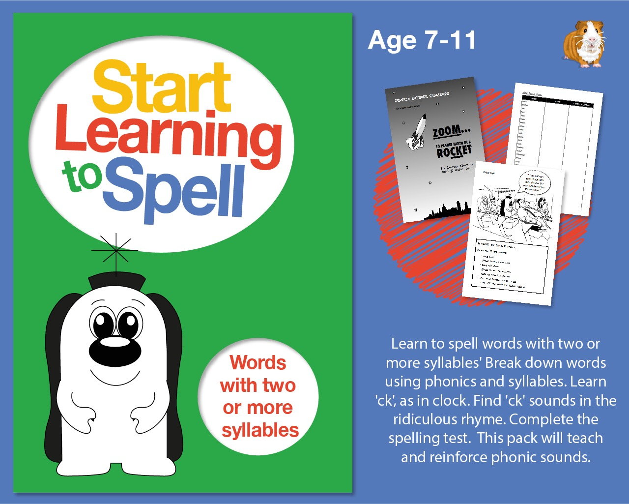 Learn To Spell Words With 2 Or More Syllables: Learn To Spell With Phonics (7-11)