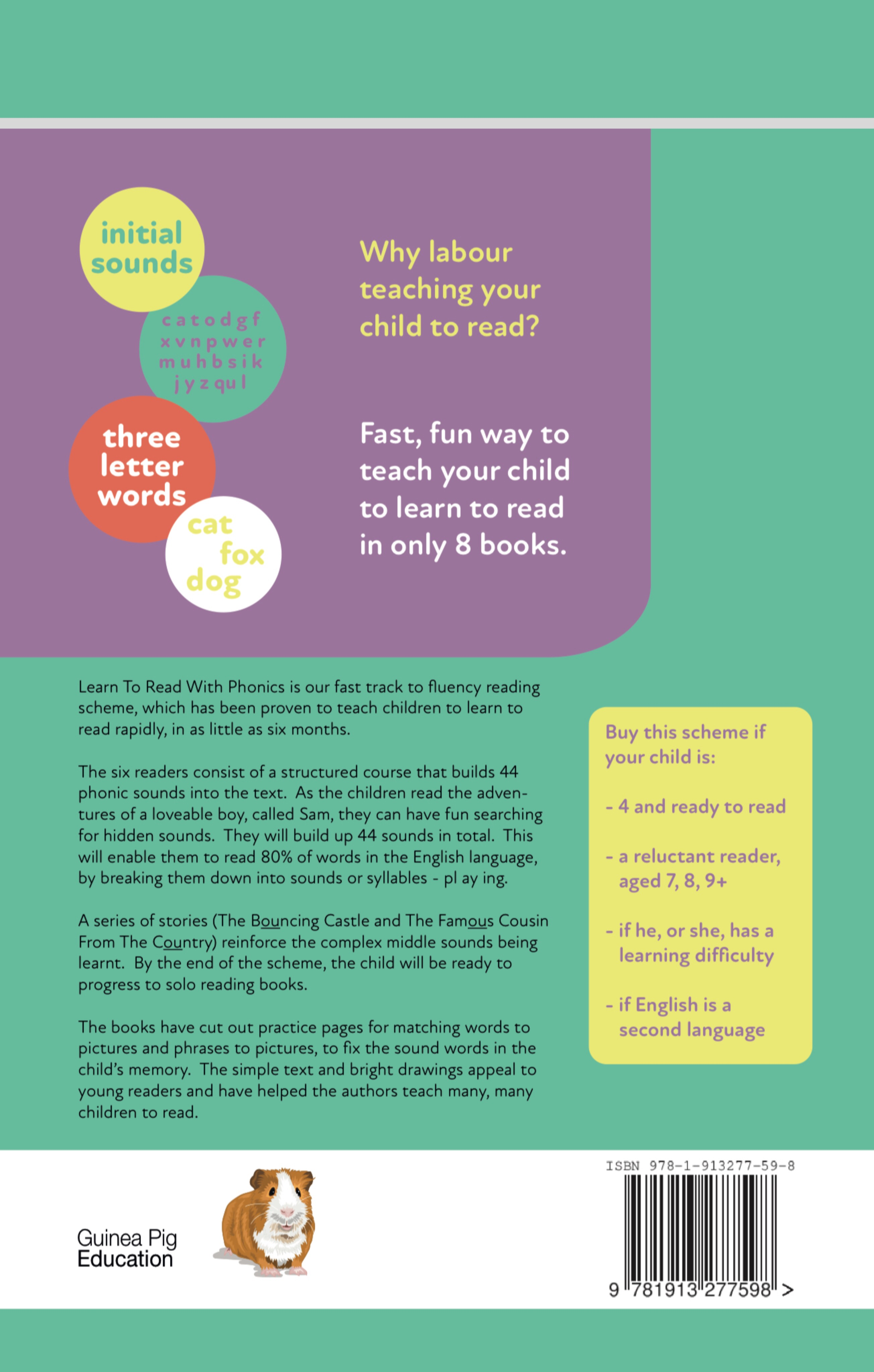Learn To Read Rapidly With Phonics: Beginner Reader Book 1: Print Book