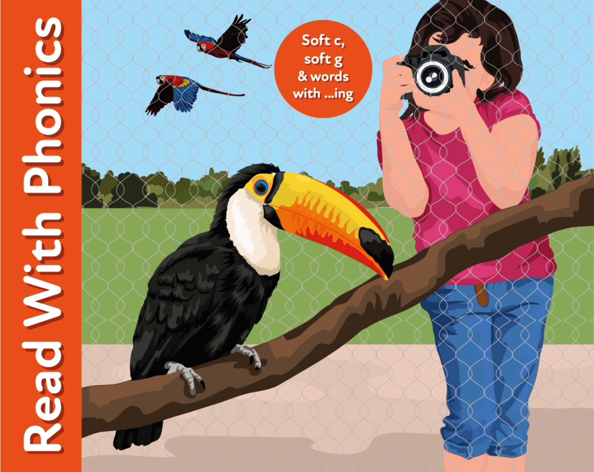 Revise soft c, soft g & words ending in ...ing. Read the story 'Feather World'