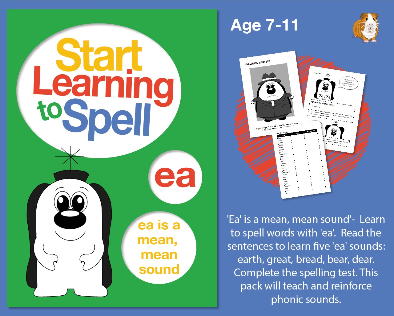 'Ea' Is A Mean, Mean Sound' Learn To Spell Words With 'ea' (7-11 years)