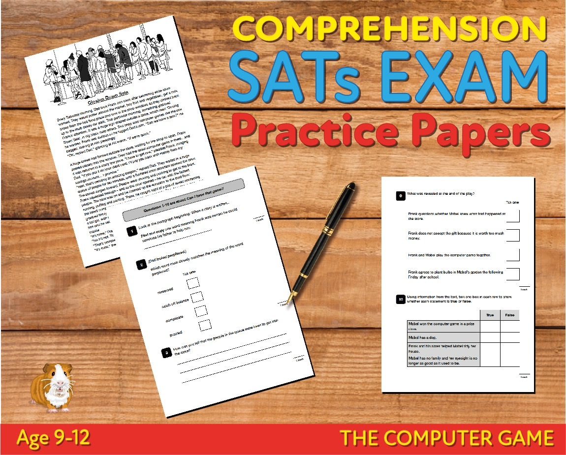 SATS Comprehension Tests (The Computer Game) 9-12 years Digital Download