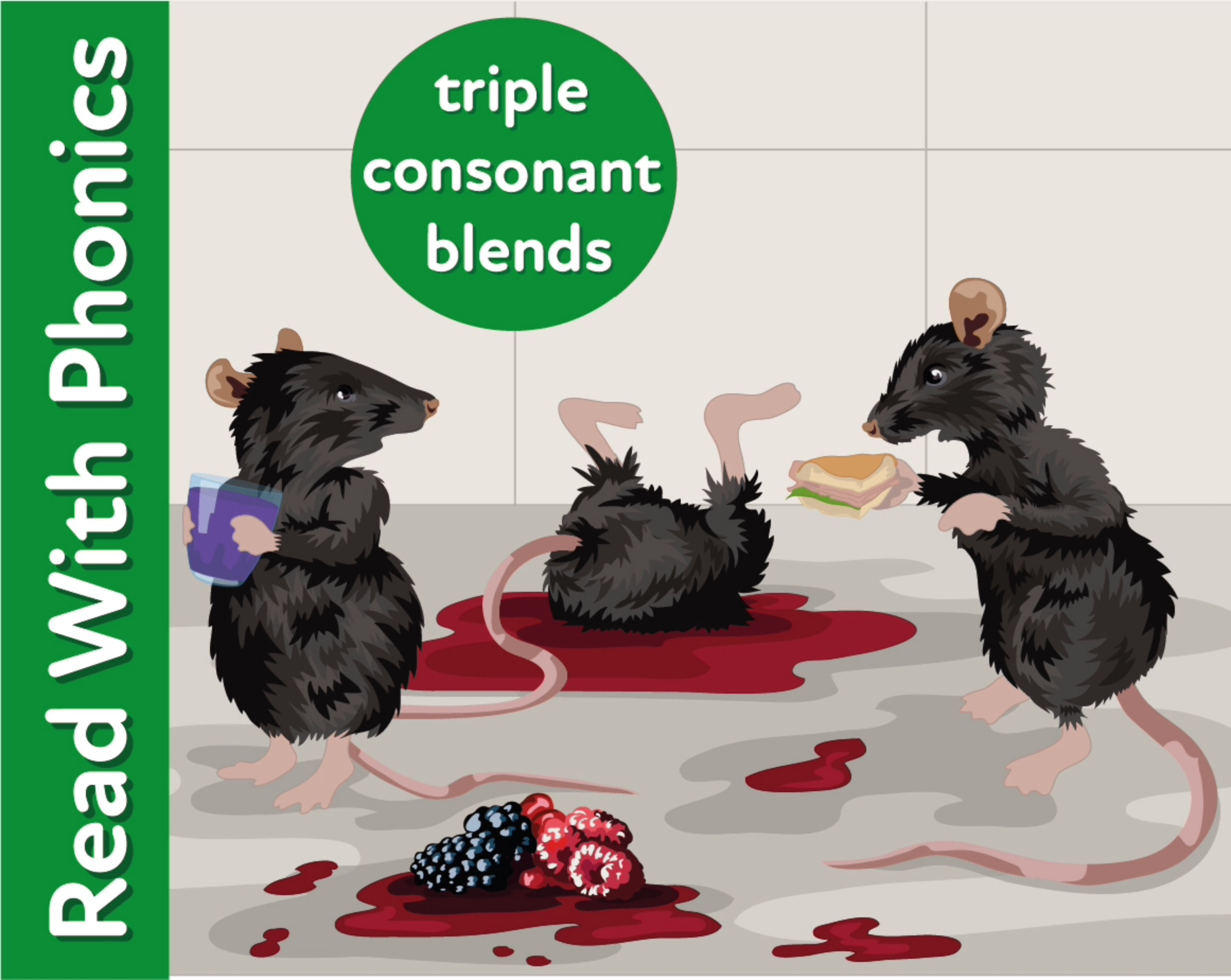 Introduces Triple Consonant Blends. Read Fun Rhymes (3+)