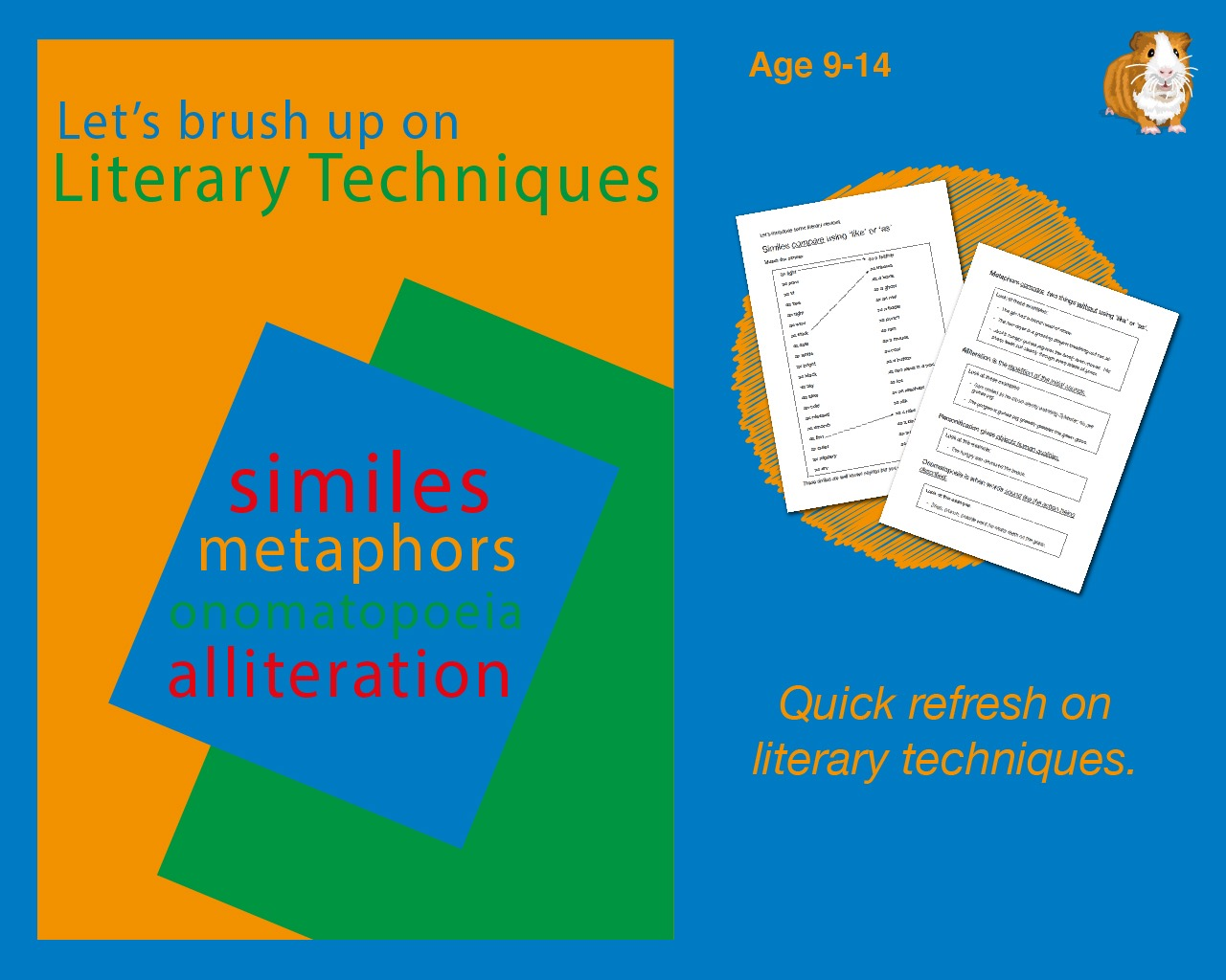 Brush Up On Literary Techniques (9-14 years)