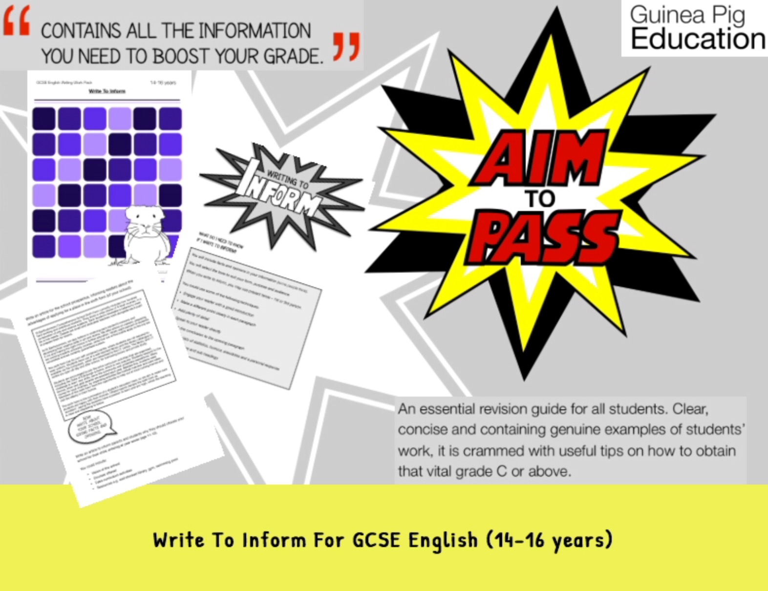 Write To Inform (Improve Your Grades At GCSE) (14-16 years)