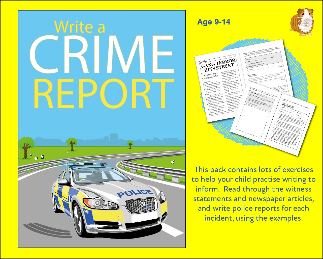 Practise Writing A Crime Report (9-14 years)