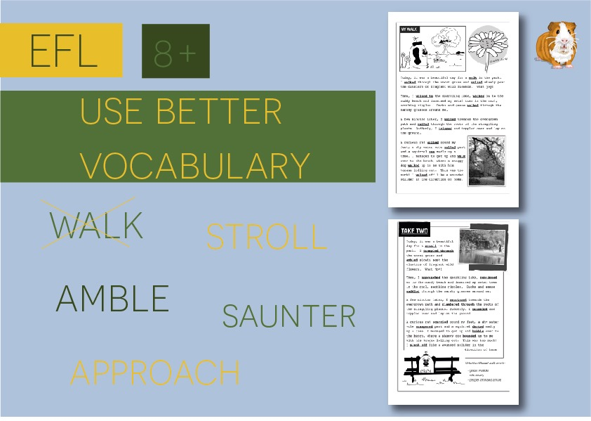 Use Better Vocabulary In Your Writing: Replace The Word Walk (8+)
