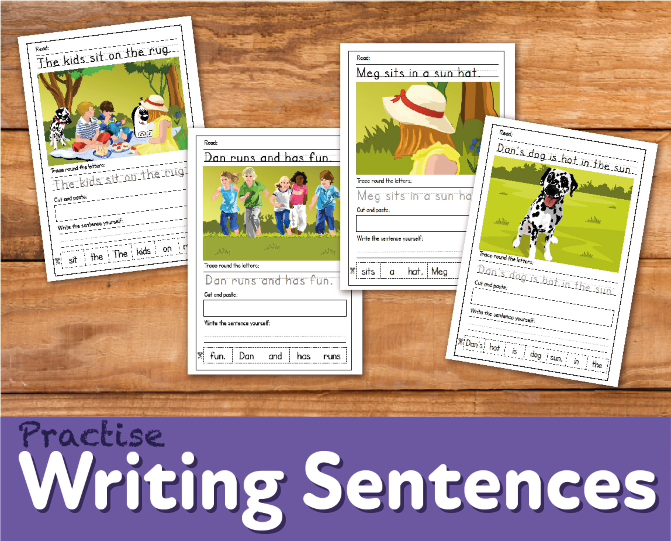 Sentence Writing Practice 'Zoggy At A Picnic' (4-7 years)