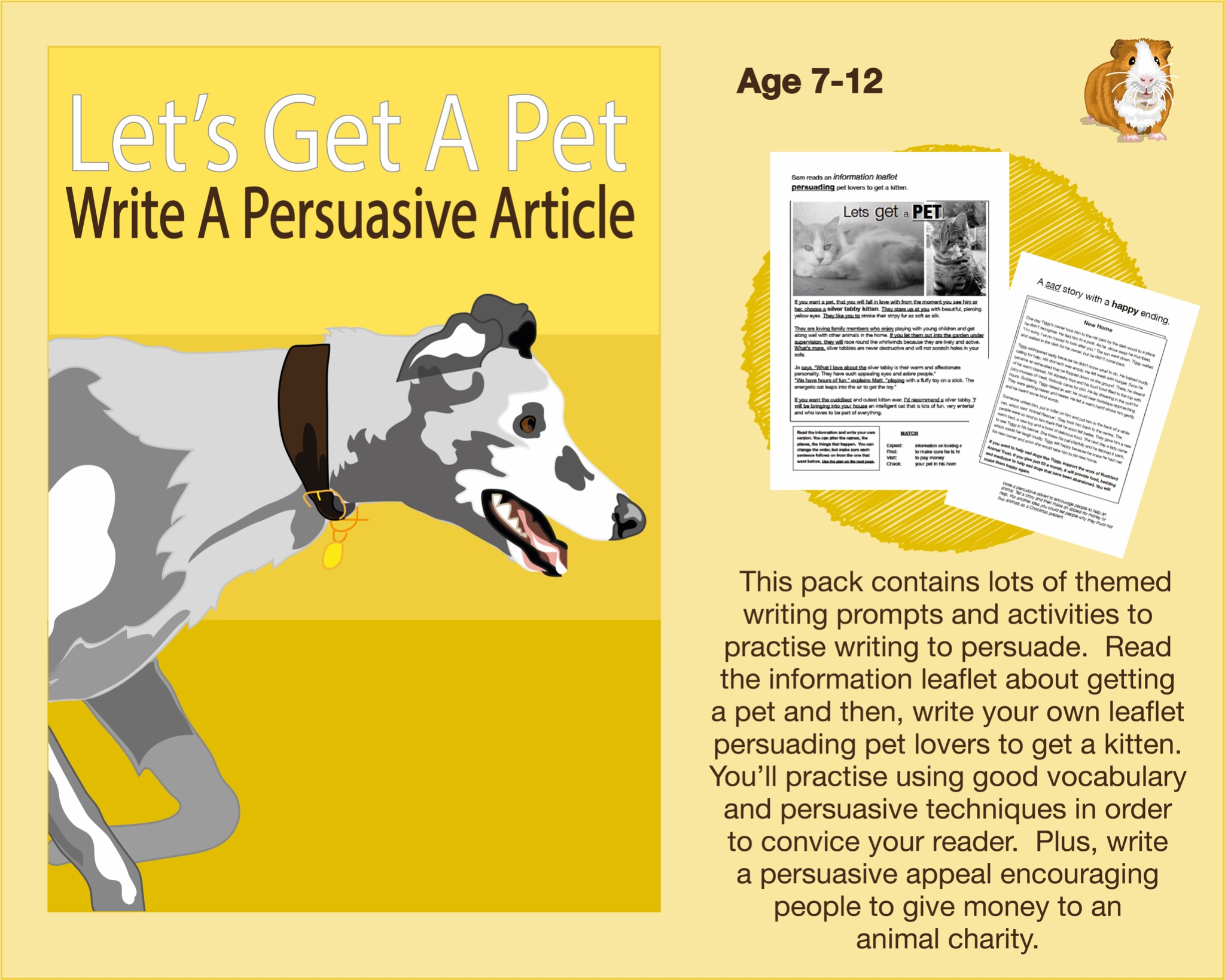 Write An Article Persuading People To Get A Pet (7-12 years)