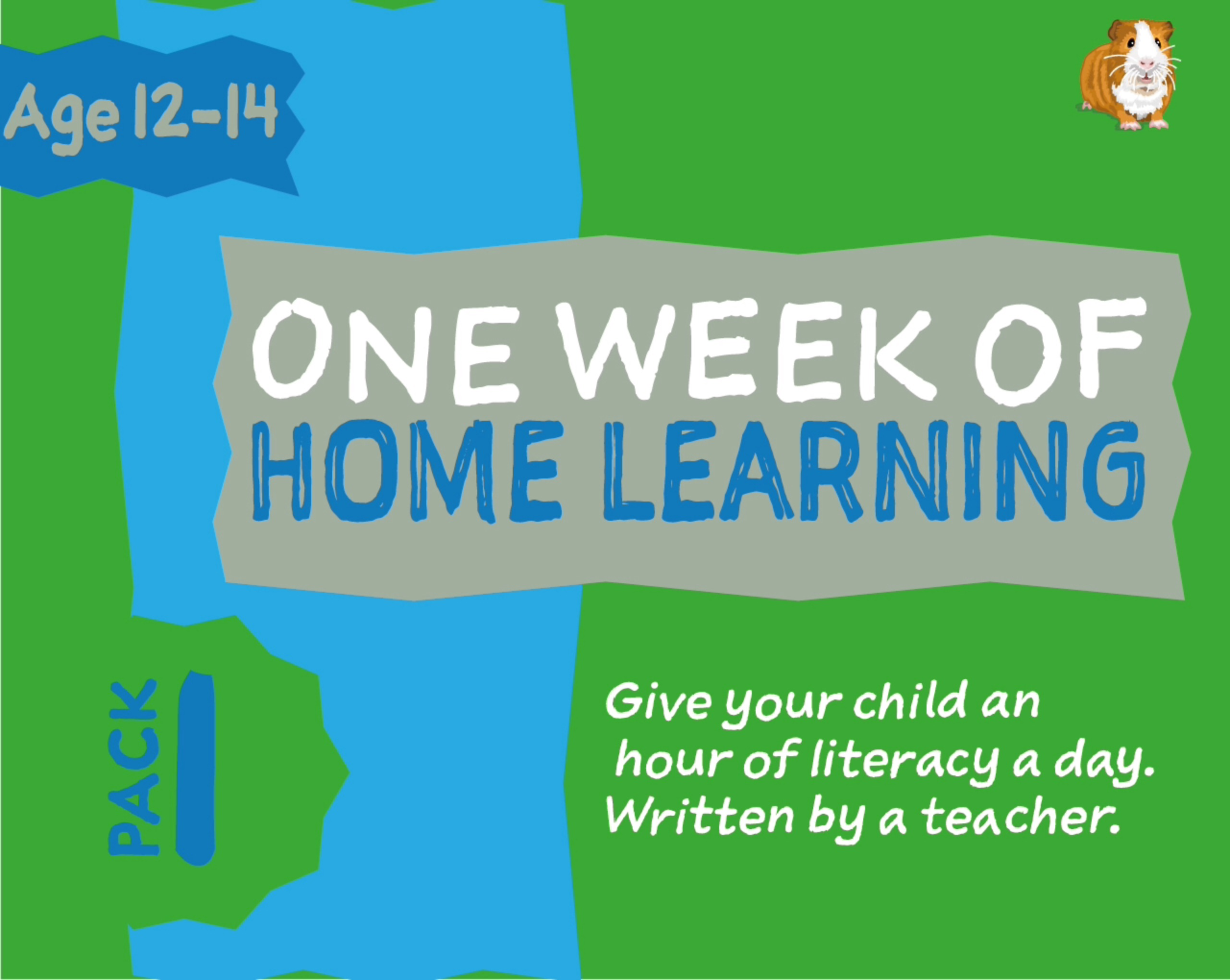 1 WEEK Literacy Distance Learning: Pack ONE (age 12-14 years) Grades 6-8