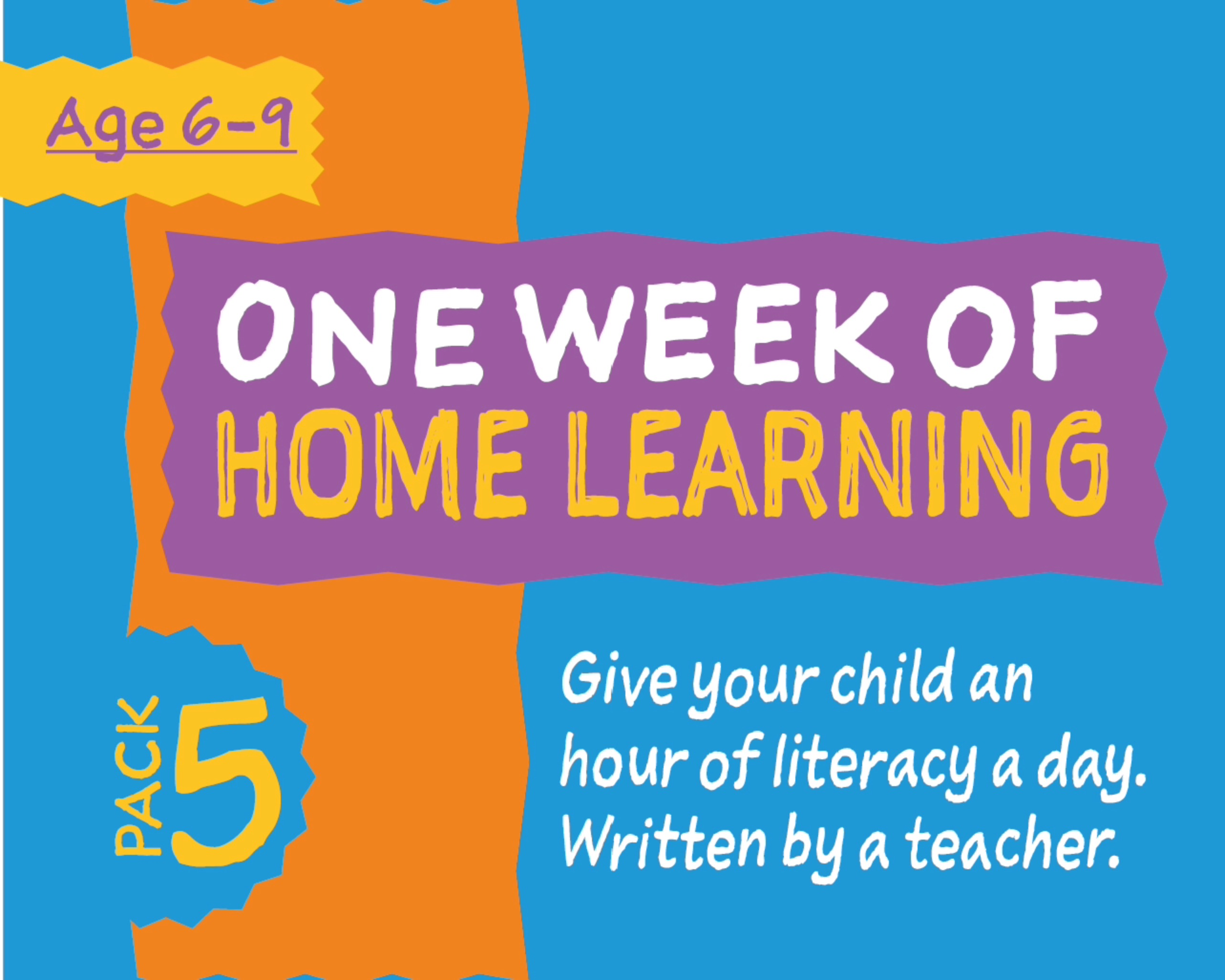 1 Week Literacy Distance Learning: PACK FIVE (age 6-9) Grades 1-3