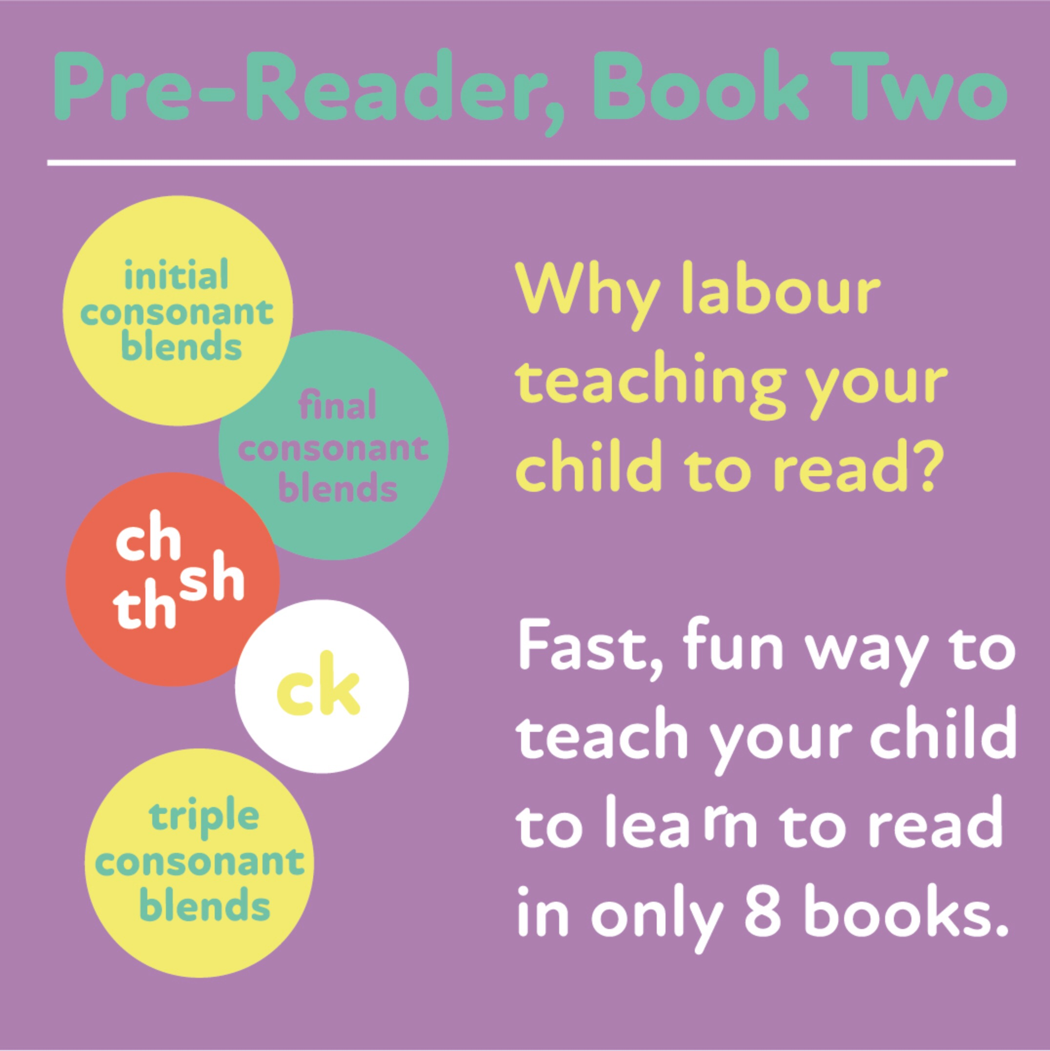 Learn to Read Rapidly with Phonics: Pre-Reader Book 2: Print Book