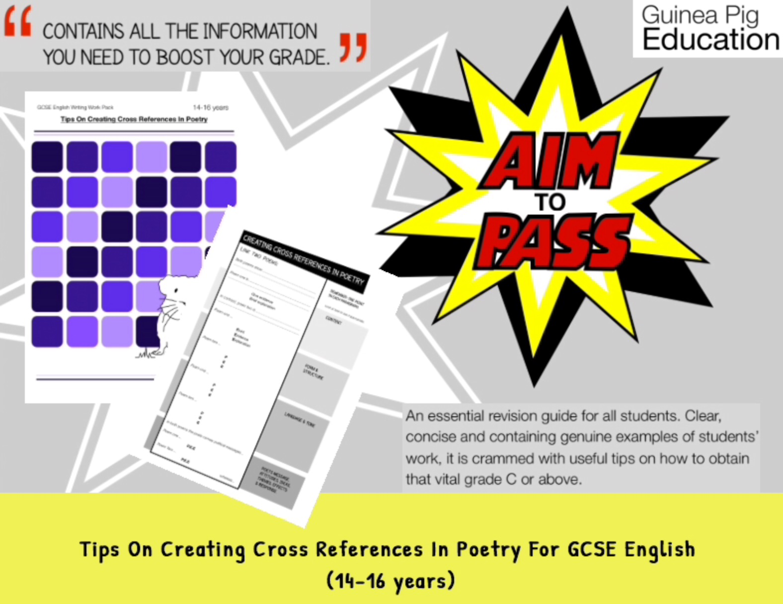 Tips On Creating Cross References In Poetry (Improve Your Grades At GCSE) (14-16 years)