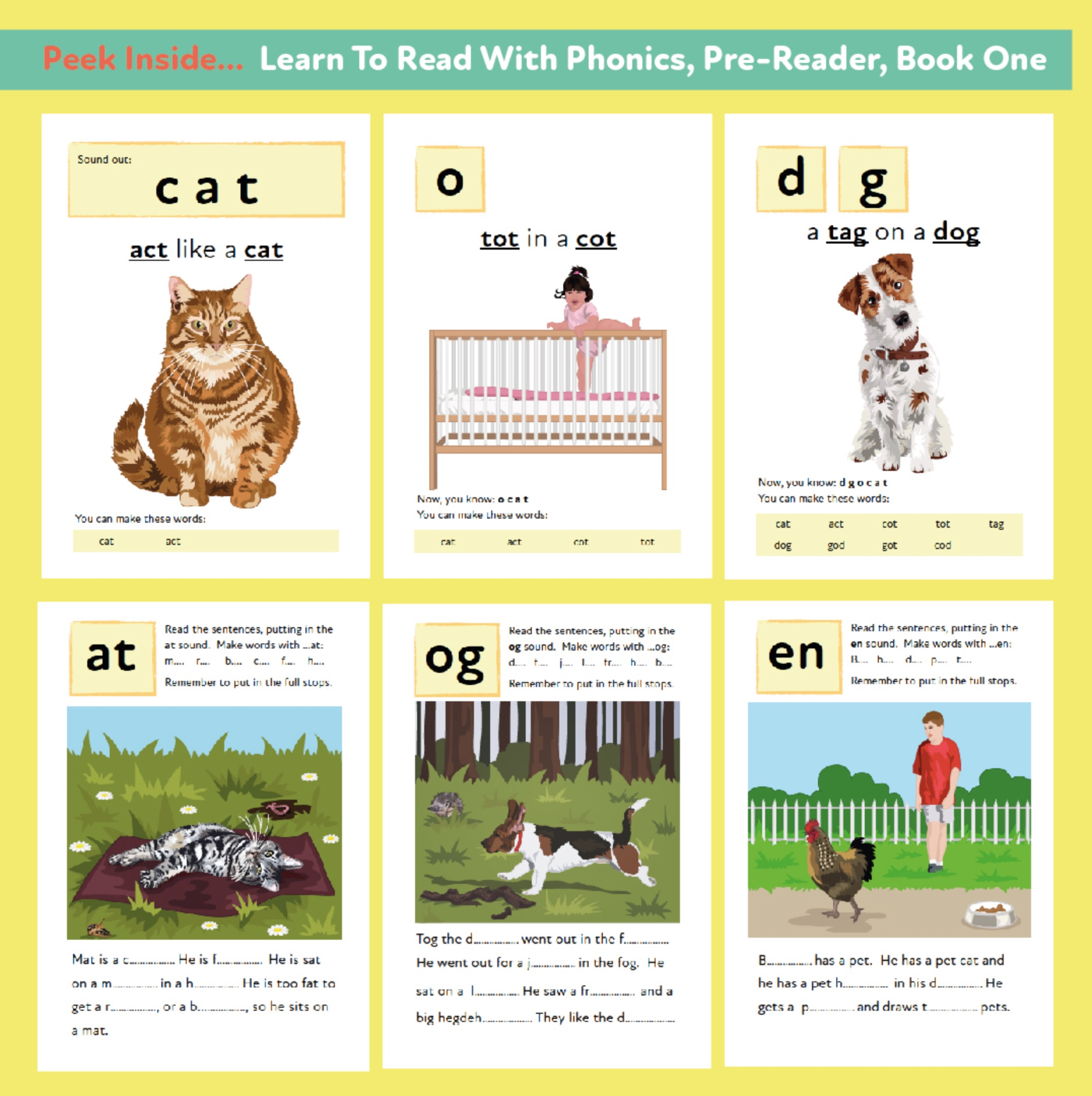 Learn to Read Rapidly with Phonics: Pre-Reader Book 1: Print Book
