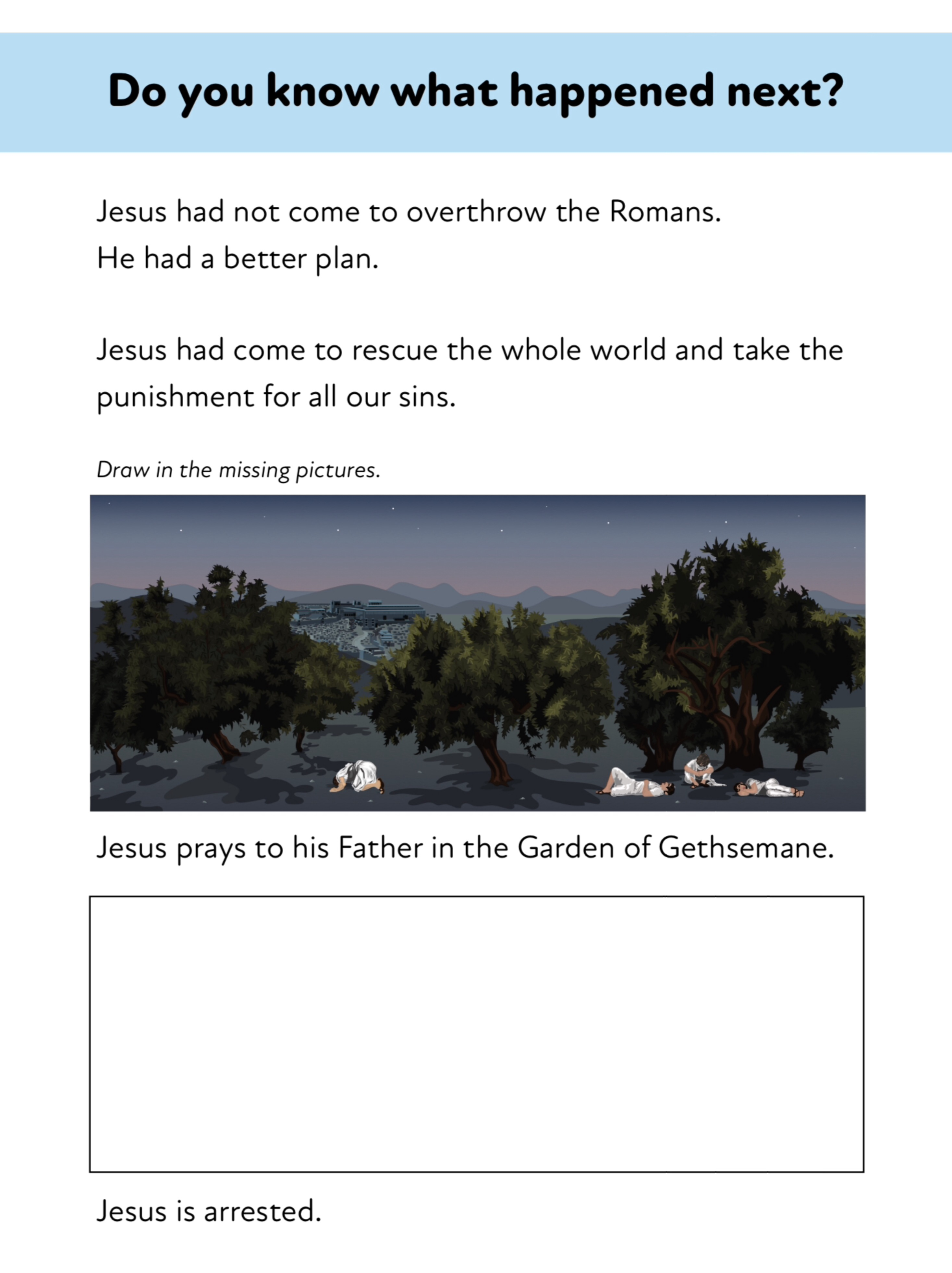 Palm Sunday Easter Activity Pack (8-12 years)