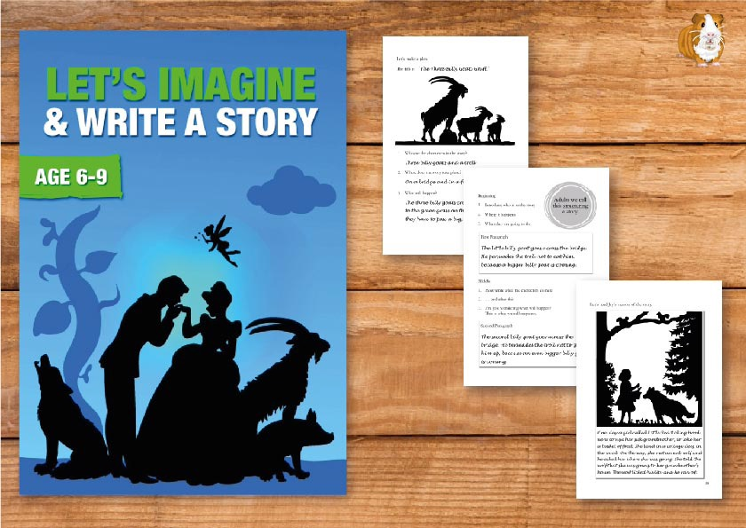 Let's Imagine And Write A Story (6-9 years)  Print Version