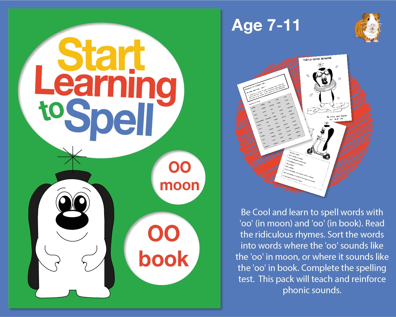 'Be Cool' And Learn To Spell Words With 'oo' and 'oo' (7-11 years)