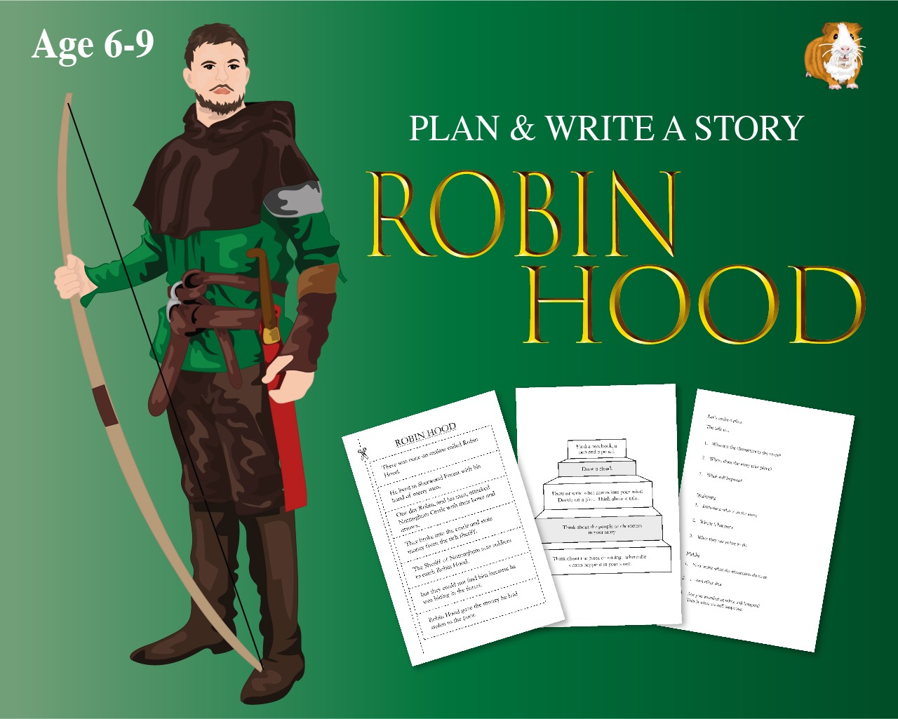 Cut Out And Write The Story Of 'Robin Hood' (6-9 years)