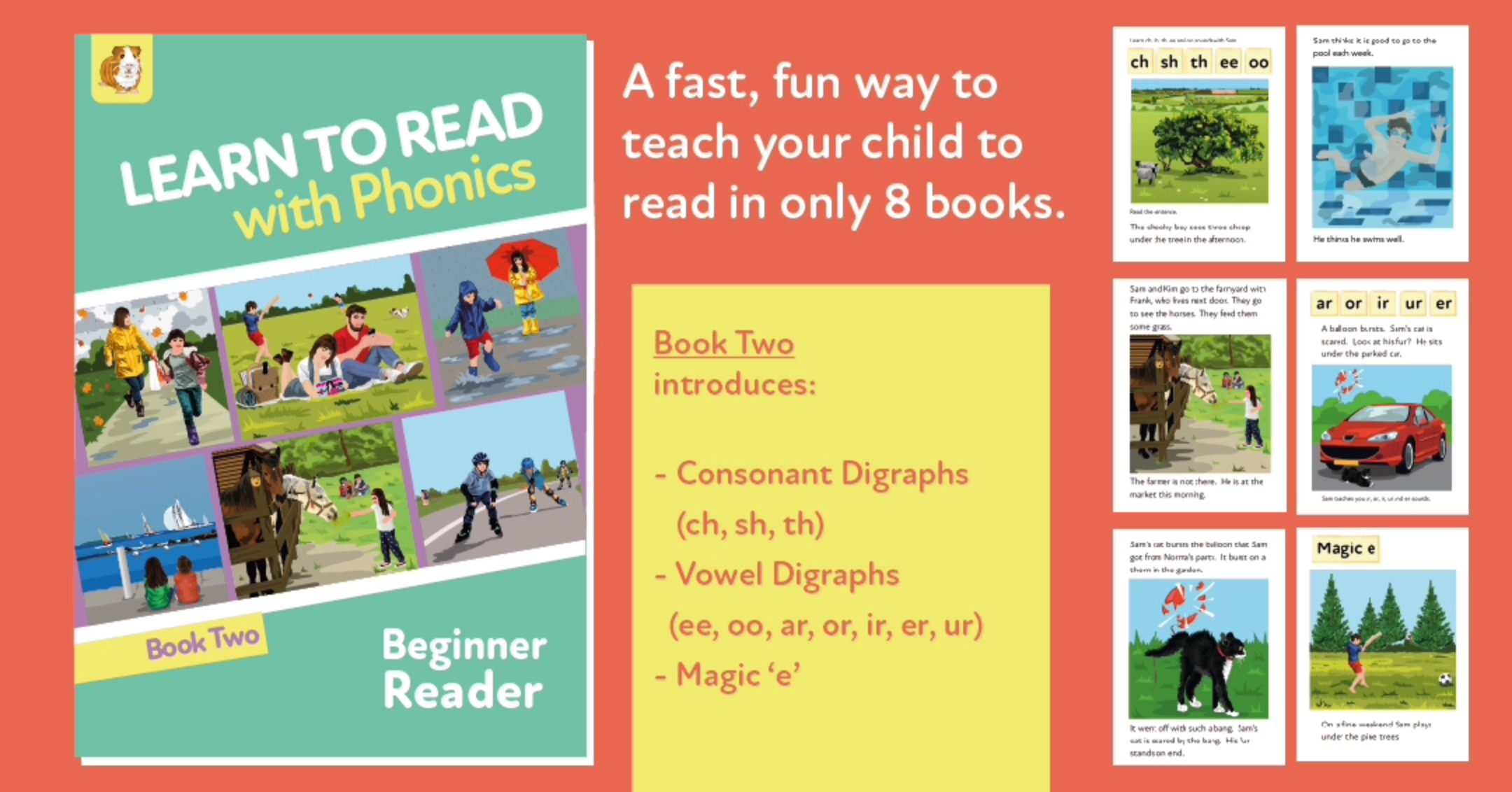 Learn To Read Rapidly With Phonics: Beginner Reader Book 2: Digital Download