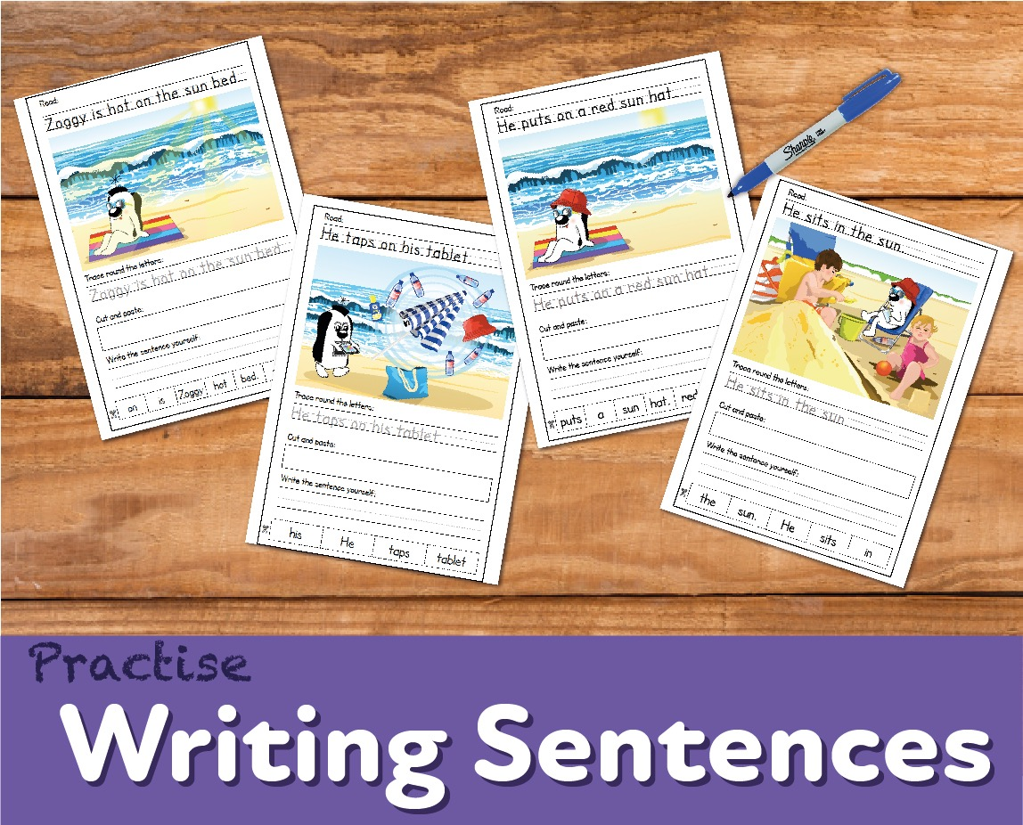 Sentence Writing Practice 'Zoggy In The Sun' (4-7 years)