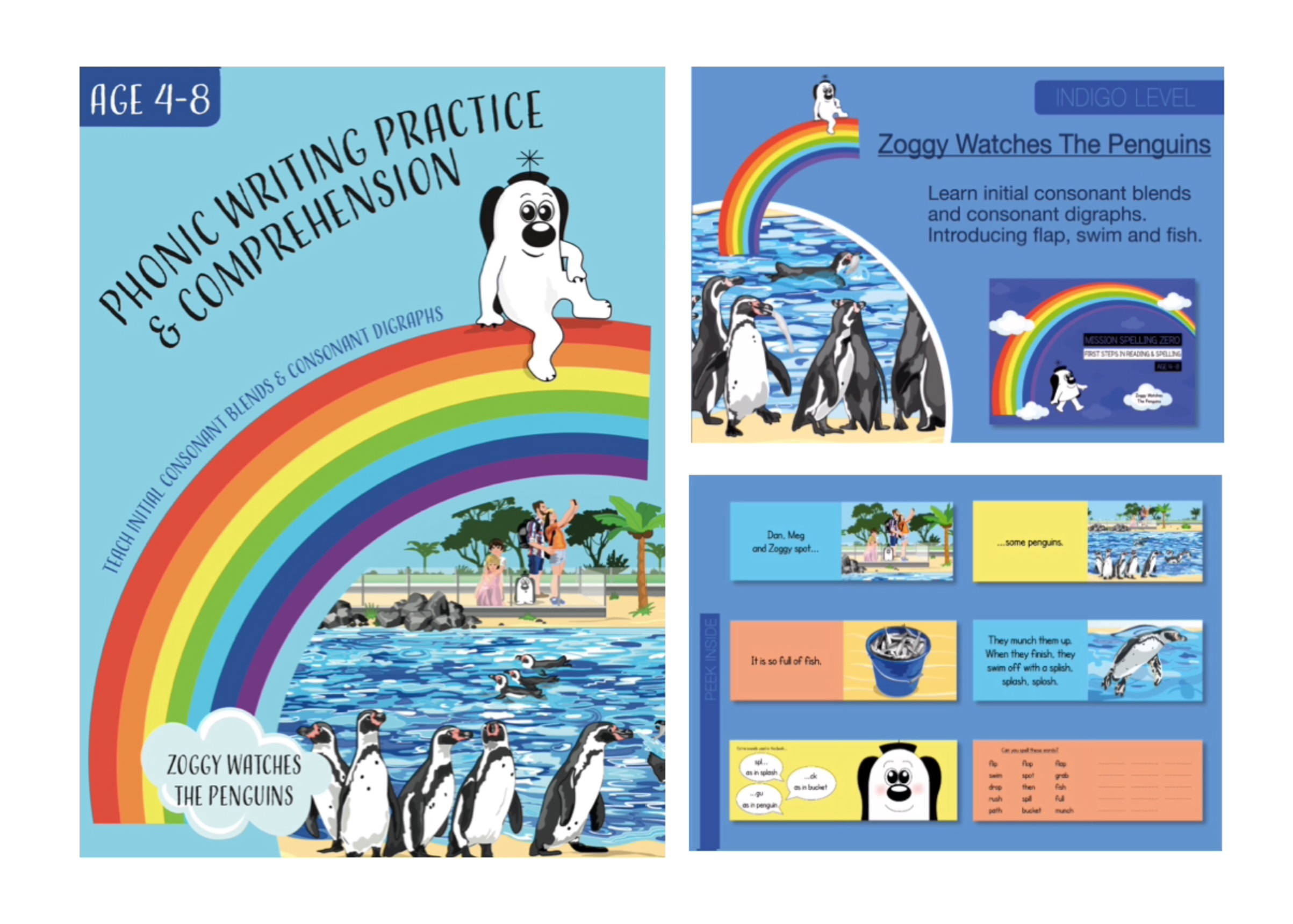 Initial Consonant Blends & Digraphs (Zoggy Watches The Penguins)