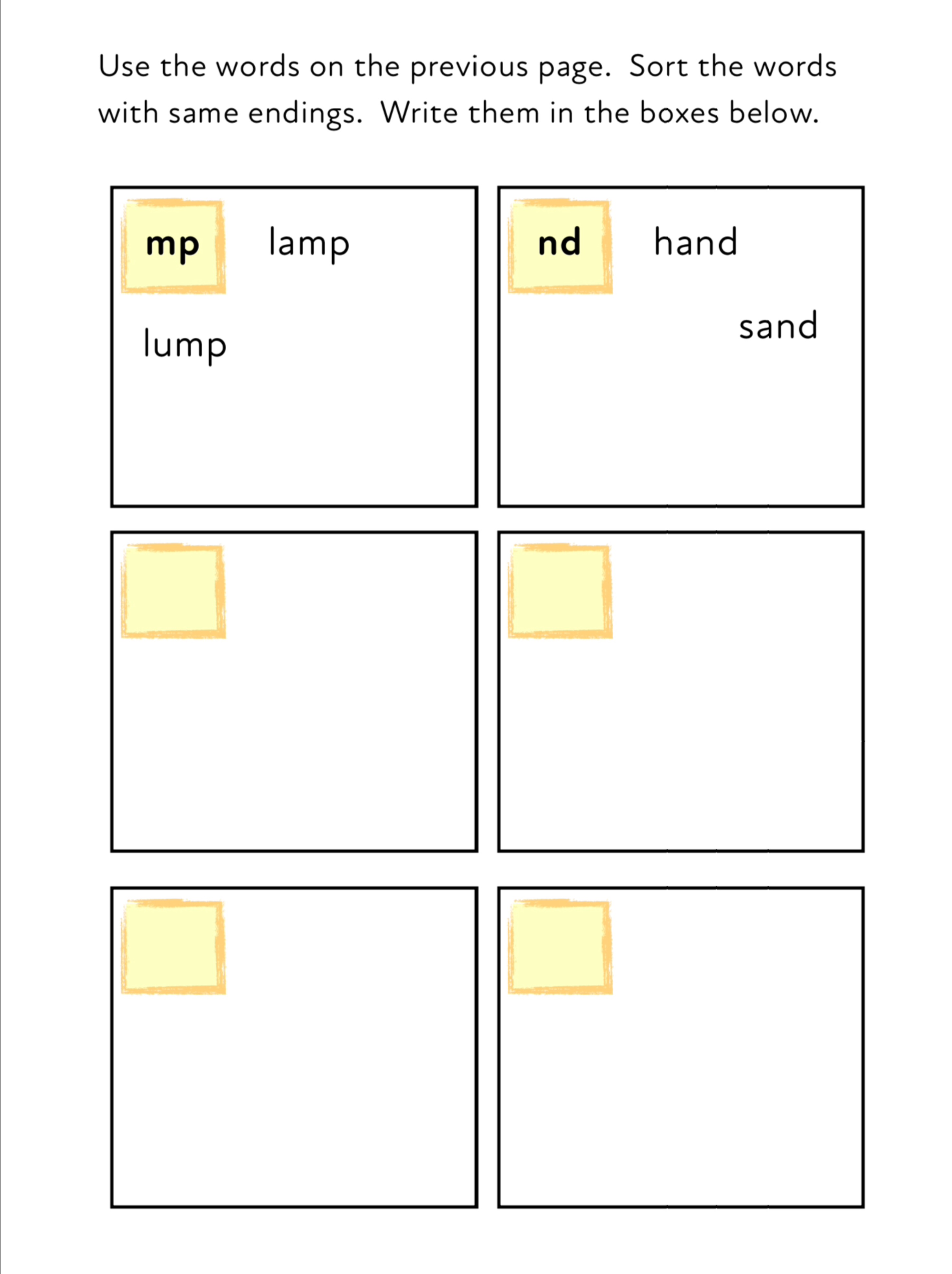 Final Consonant Blends - Sound Out And Practise Reading 4 Letter Words 3+