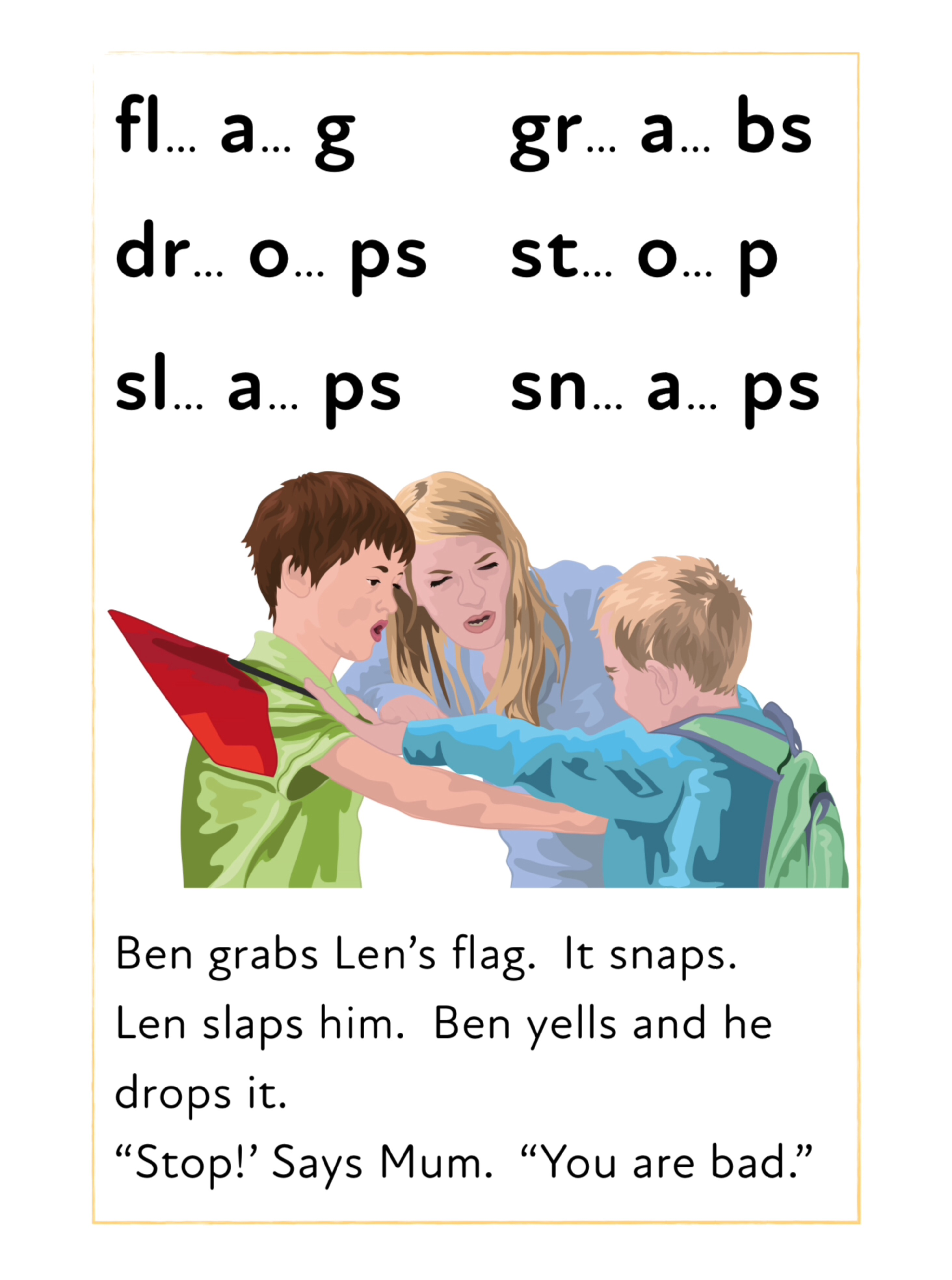 Blend Sounds Together To Make Words With Initial Consonant Blends (3 +)