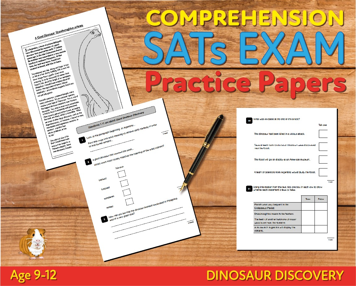 SATS Comprehension Tests (Dinosaur Discovery) 9-12 years Digital Download
