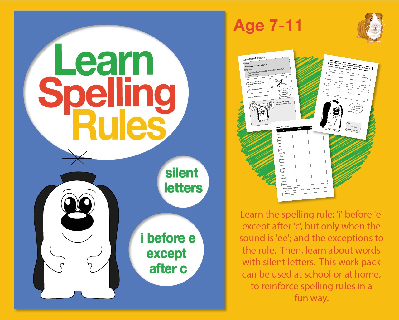 Learn Spelling Rules: 'i' Before 'e' Except After 'c' (7-11 years)