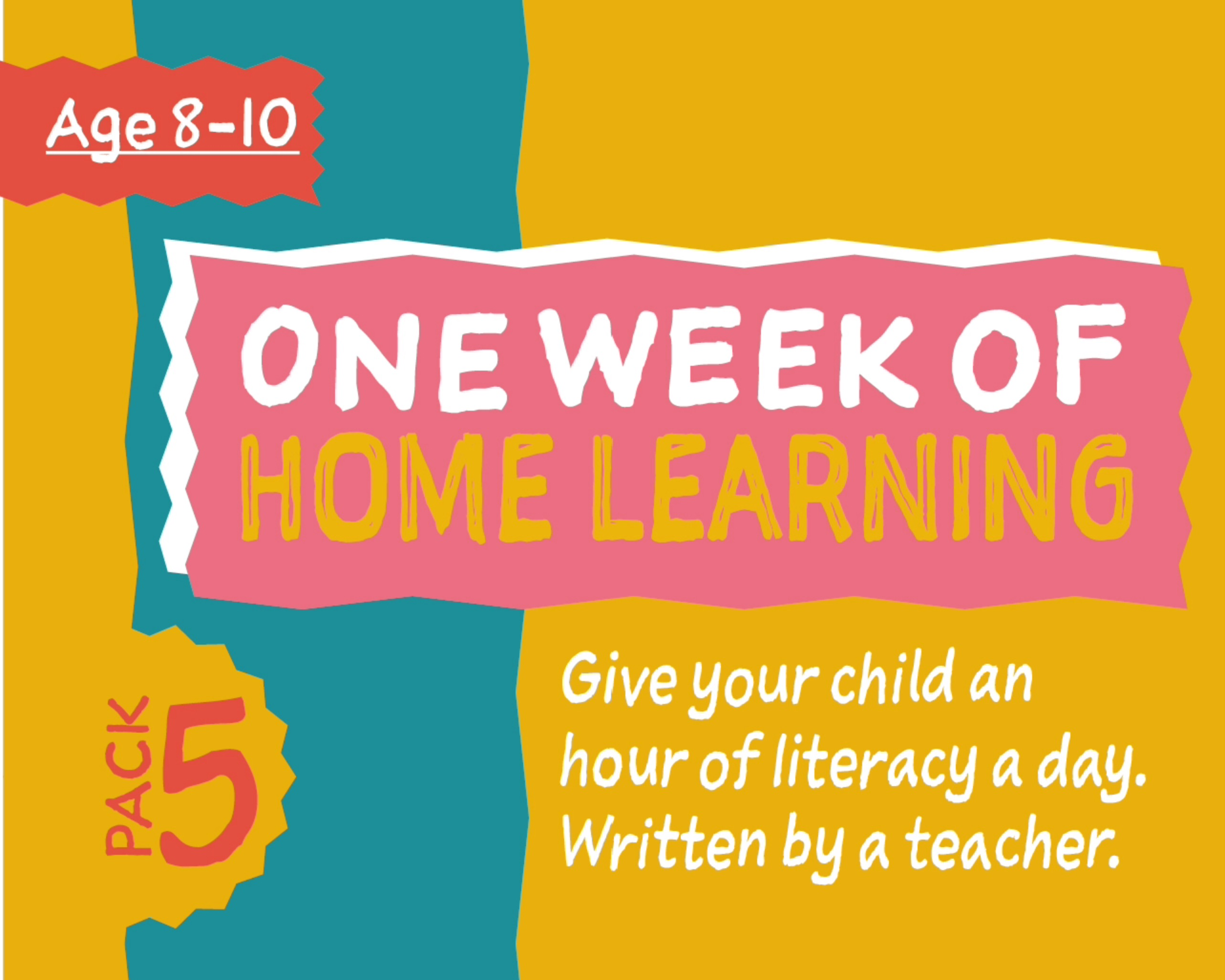 1 Week Literacy Distance Learning: PACK FIVE (age 8-10) Grades 3-6