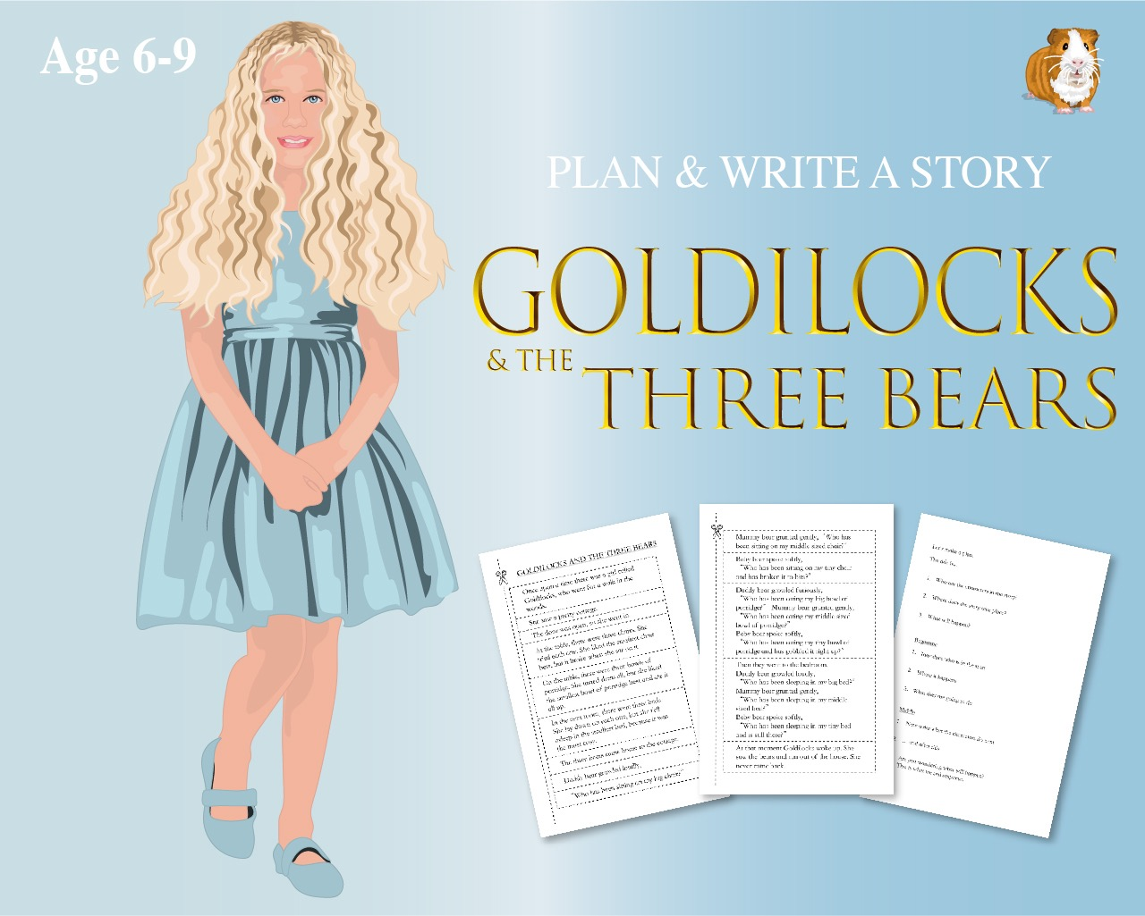 Cut Out And Write The Story Of 'Goldilocks And The Three Bears' (6-9 years)