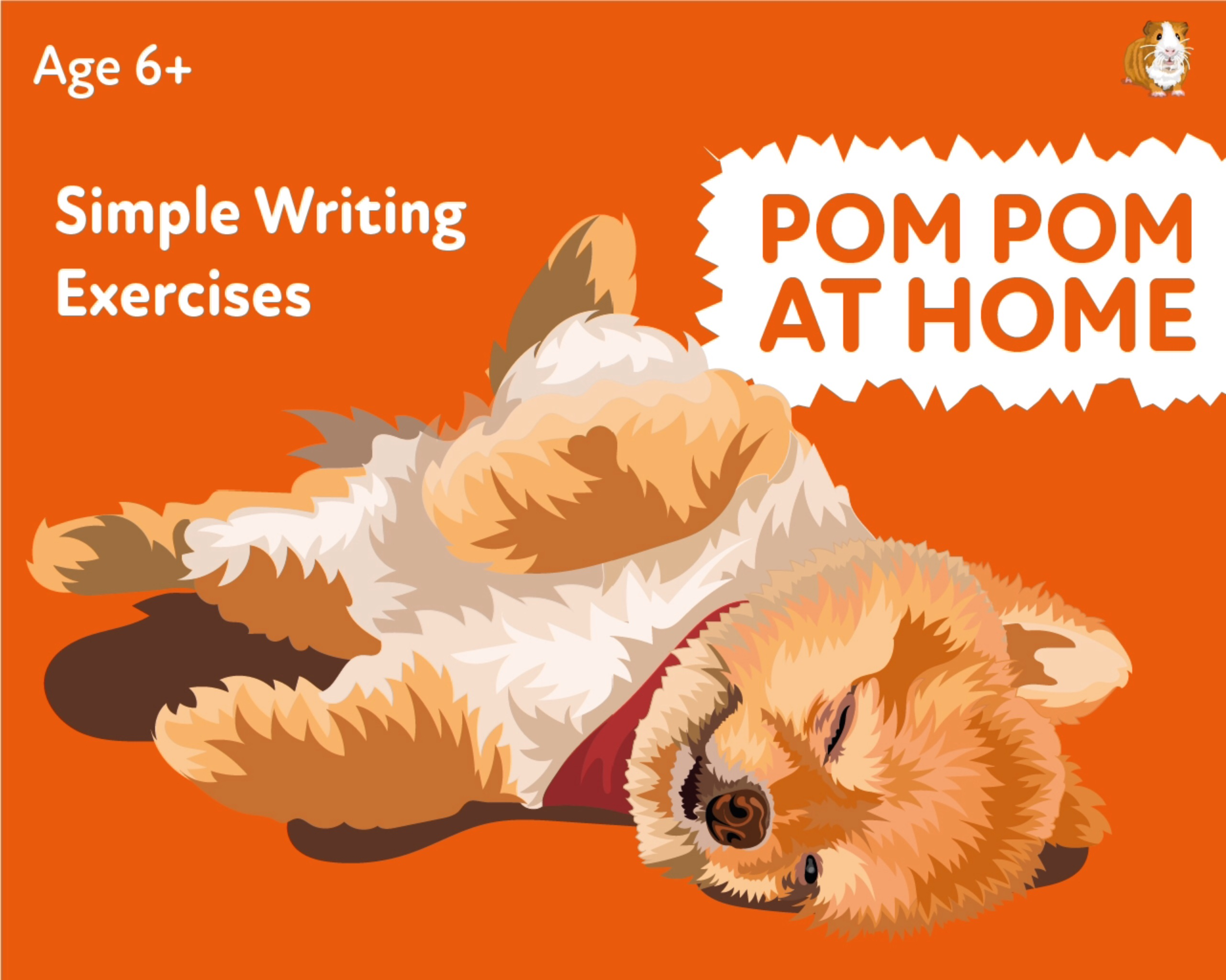 'Pom Pom At Home' A Fun Writing And Drawing Activity (6 years +)