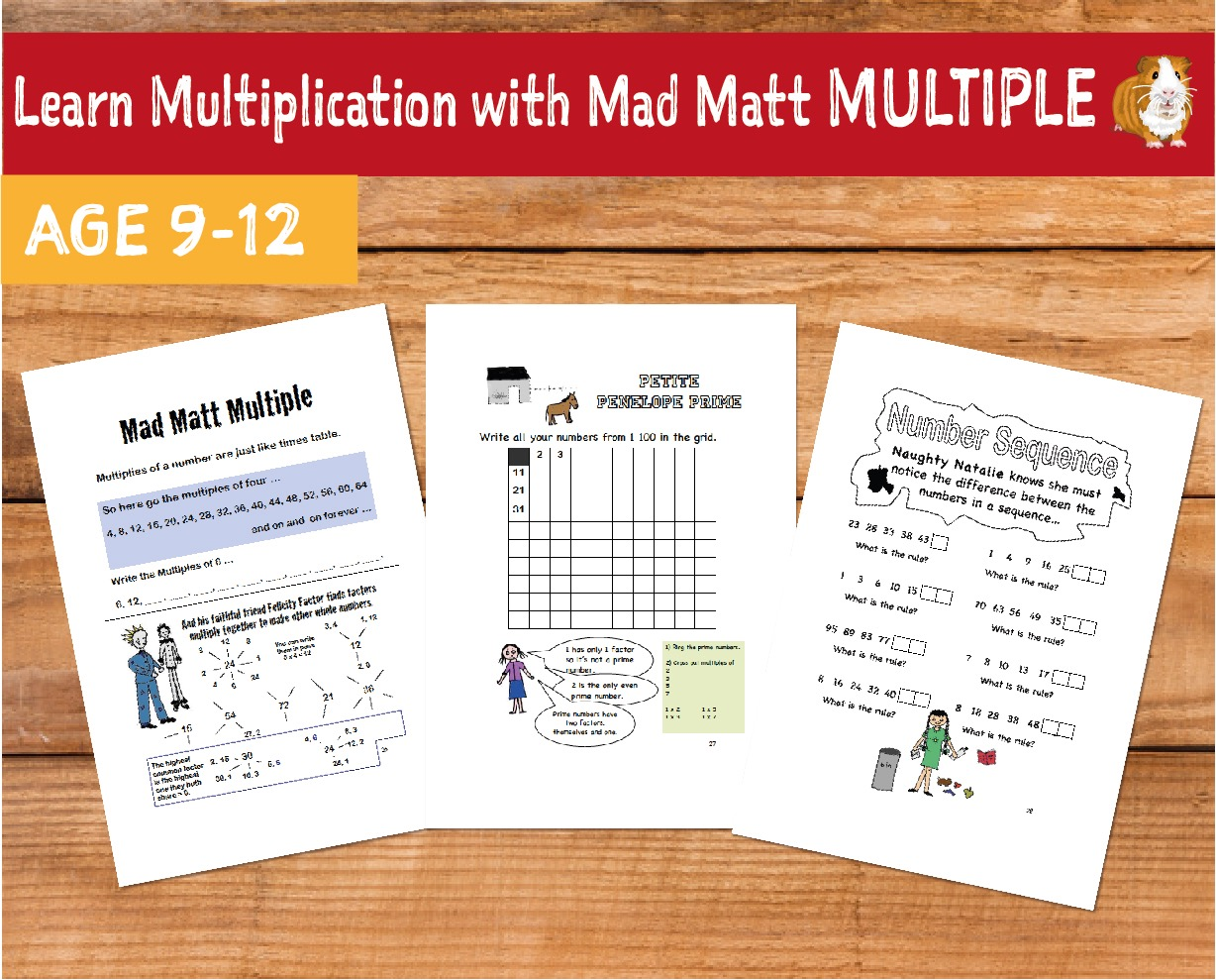 Learn Multiplication With Mad Matt Multiple (9-12 years)