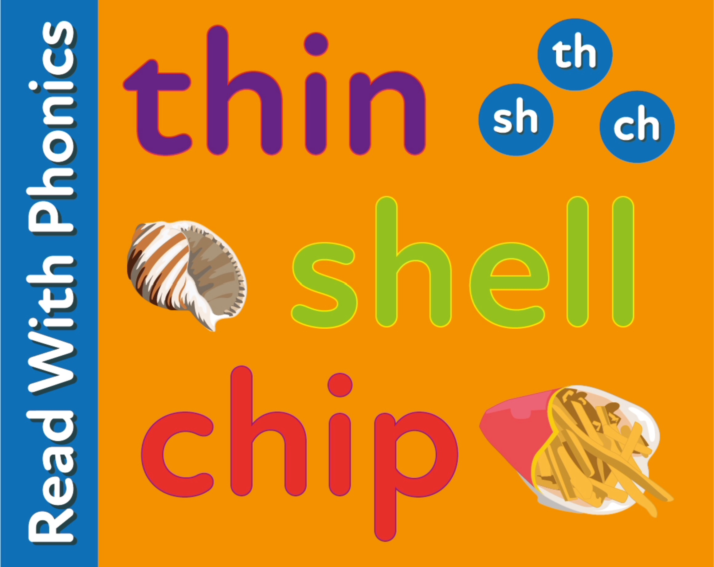 Introduces Consonant Digraphs, Sh, Ch, Th, & words ending in y (3 +)